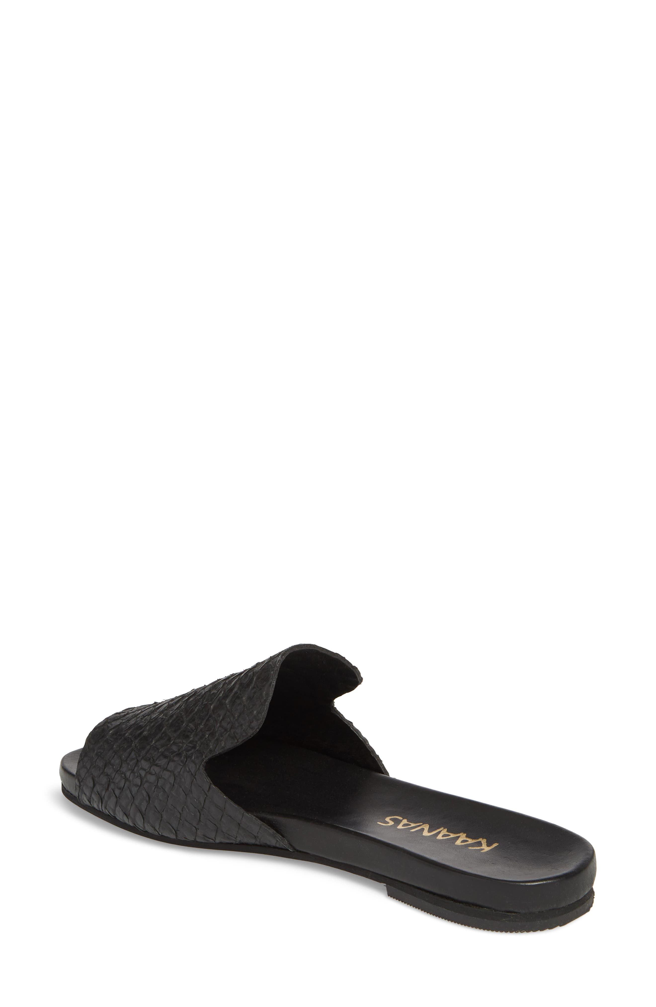 Leticia Loafer Mule Sandal,                             Alternate thumbnail 2, color,                             BLACK