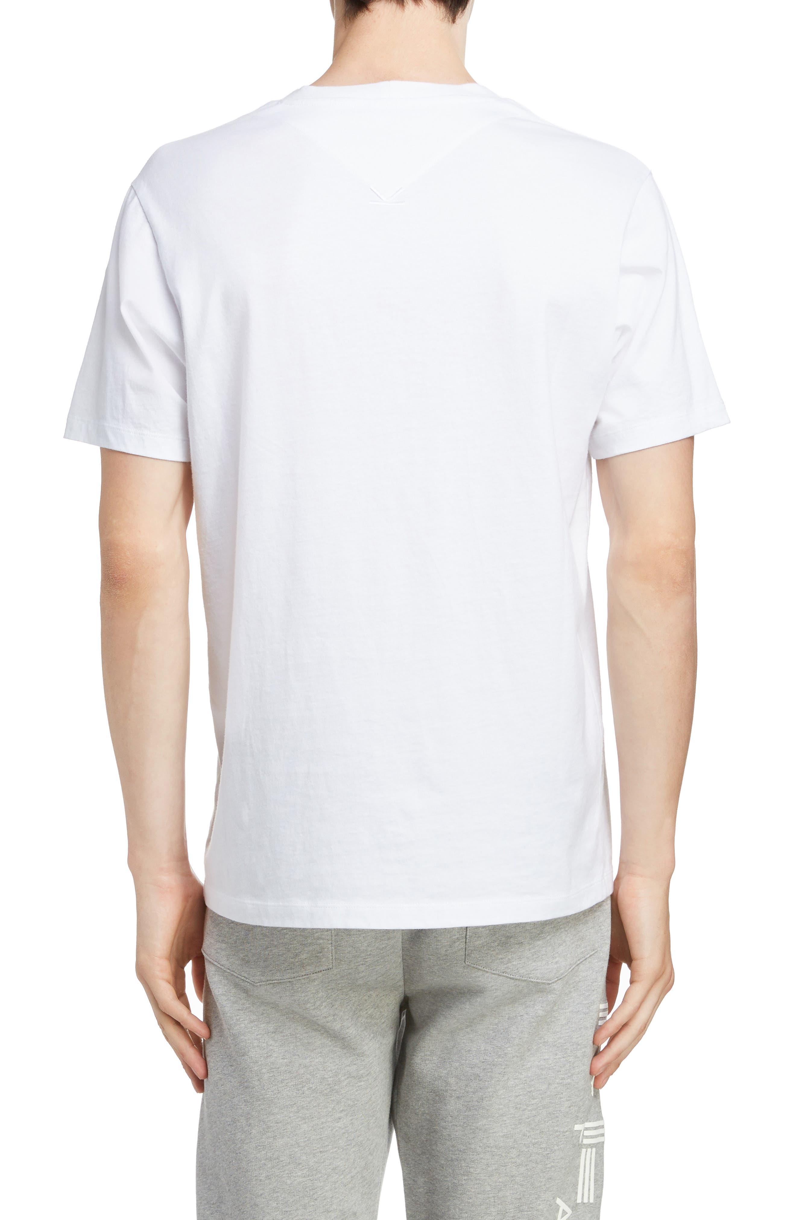 KENZO,                             Classic Fit Logo T-Shirt,                             Alternate thumbnail 2, color,                             WHITE