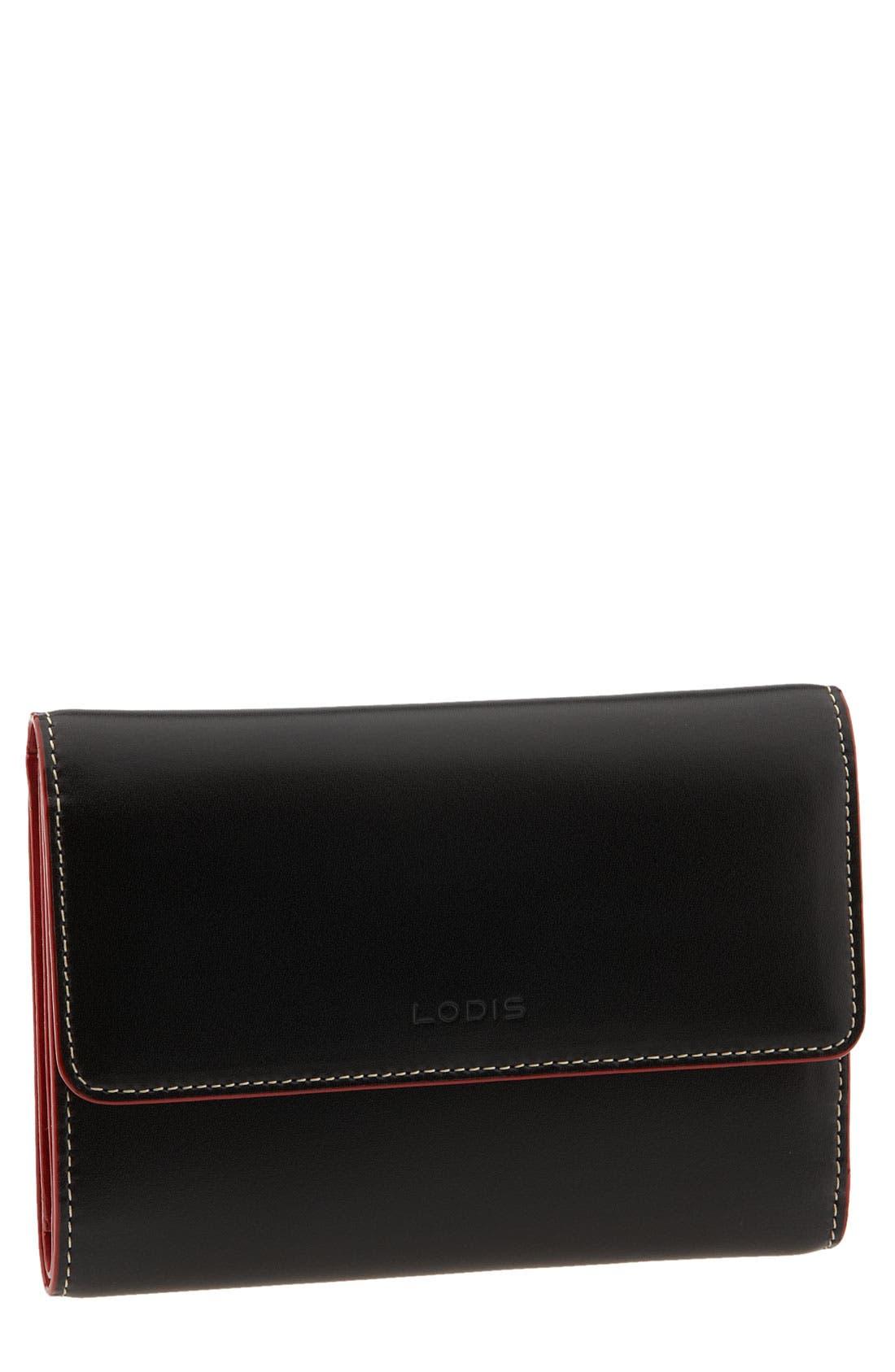 Lodis 'Audrey' Continental Wallet,                             Main thumbnail 1, color,                             002