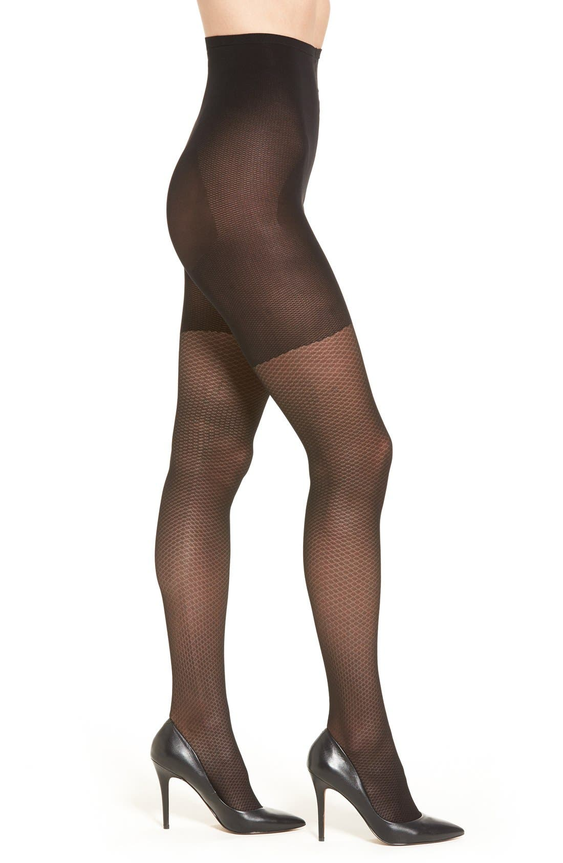 Easy On Control Top Tights,                             Alternate thumbnail 3, color,                             001