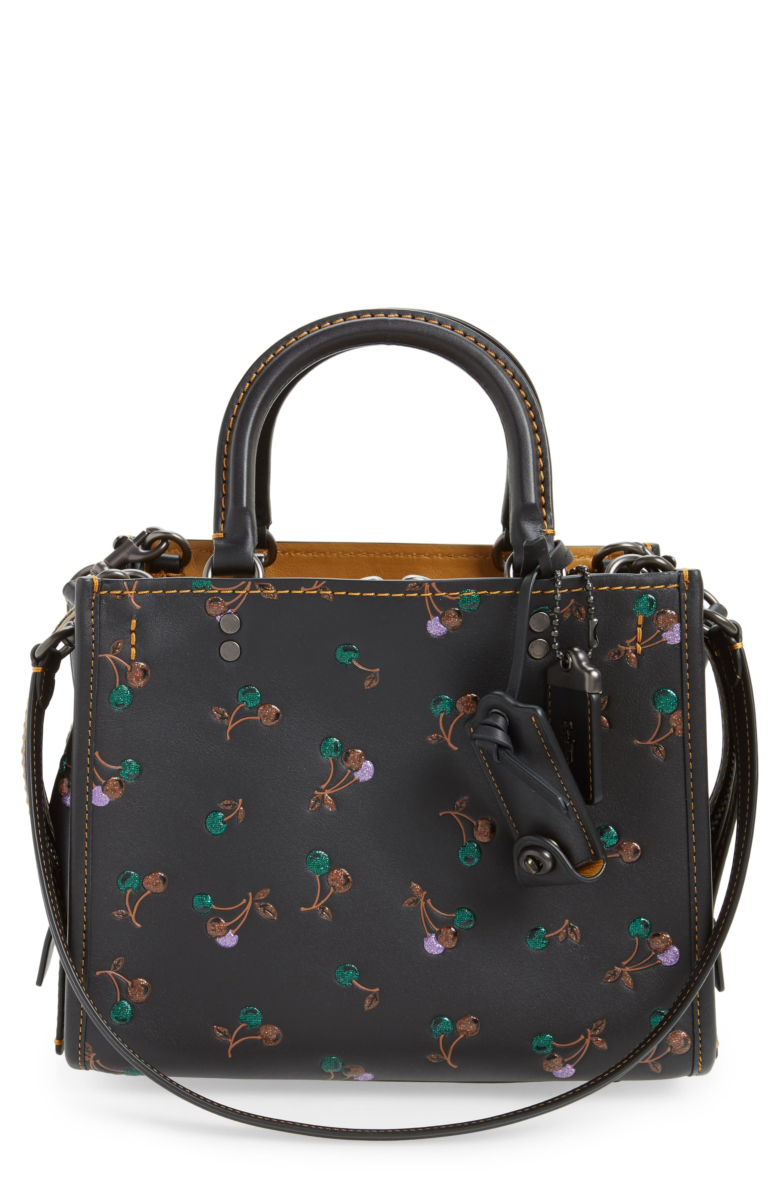 Cherries Rogue 25 Leather Satchel,                         Main,                         color, 001