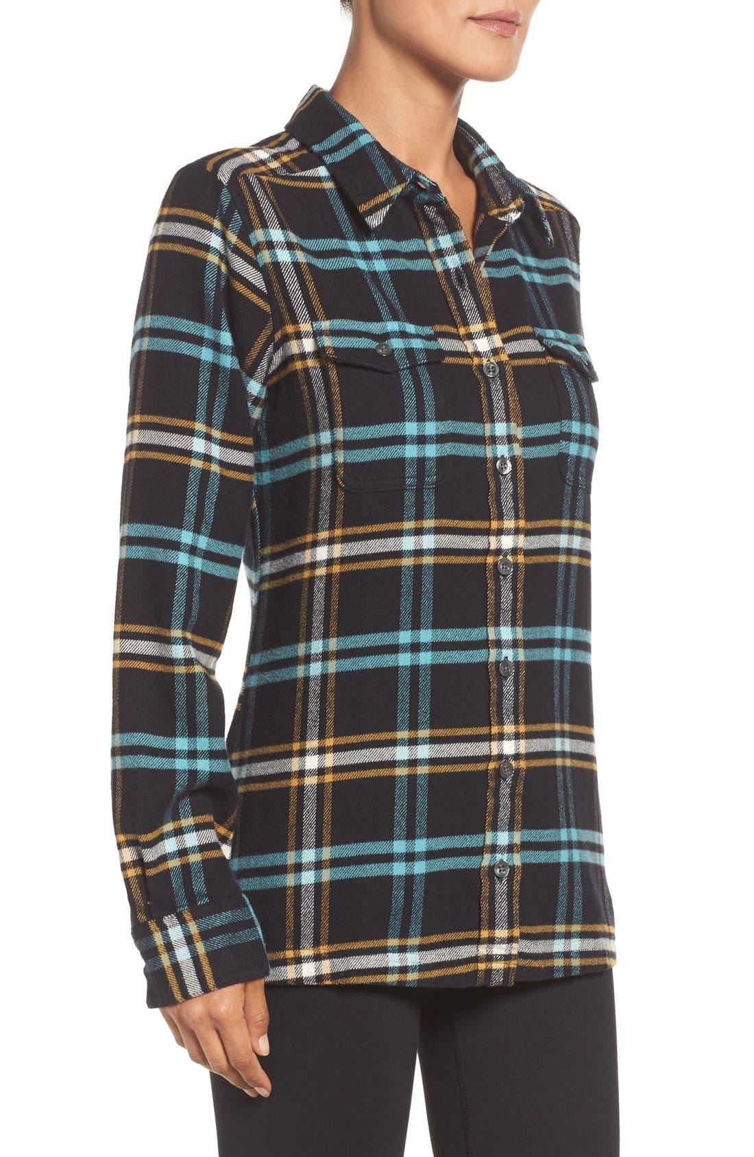 'Fjord' Flannel Shirt,                             Alternate thumbnail 6, color,                             002