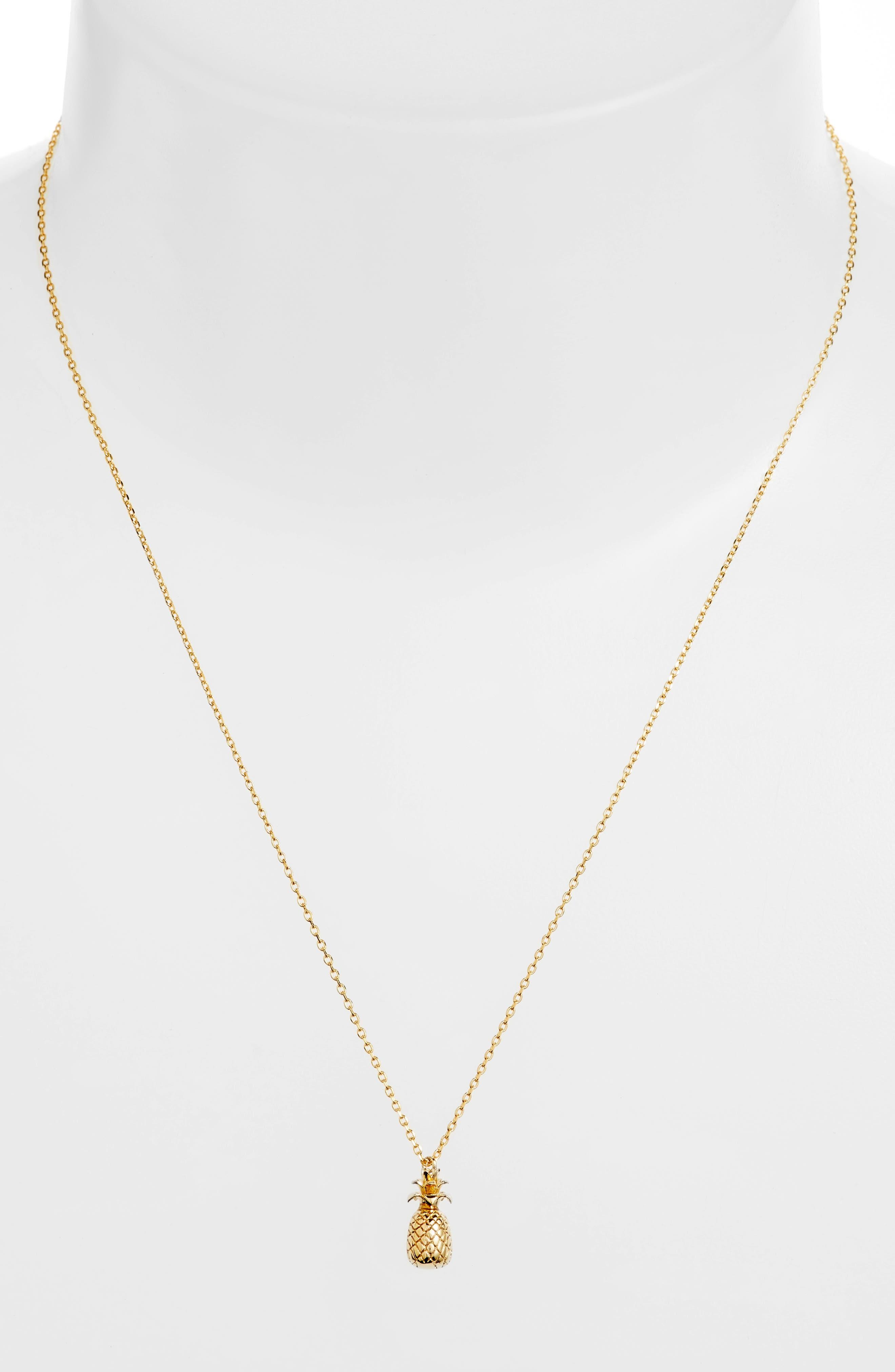 Treasure Me Pineapple Pendant Necklace,                             Alternate thumbnail 2, color,                             710
