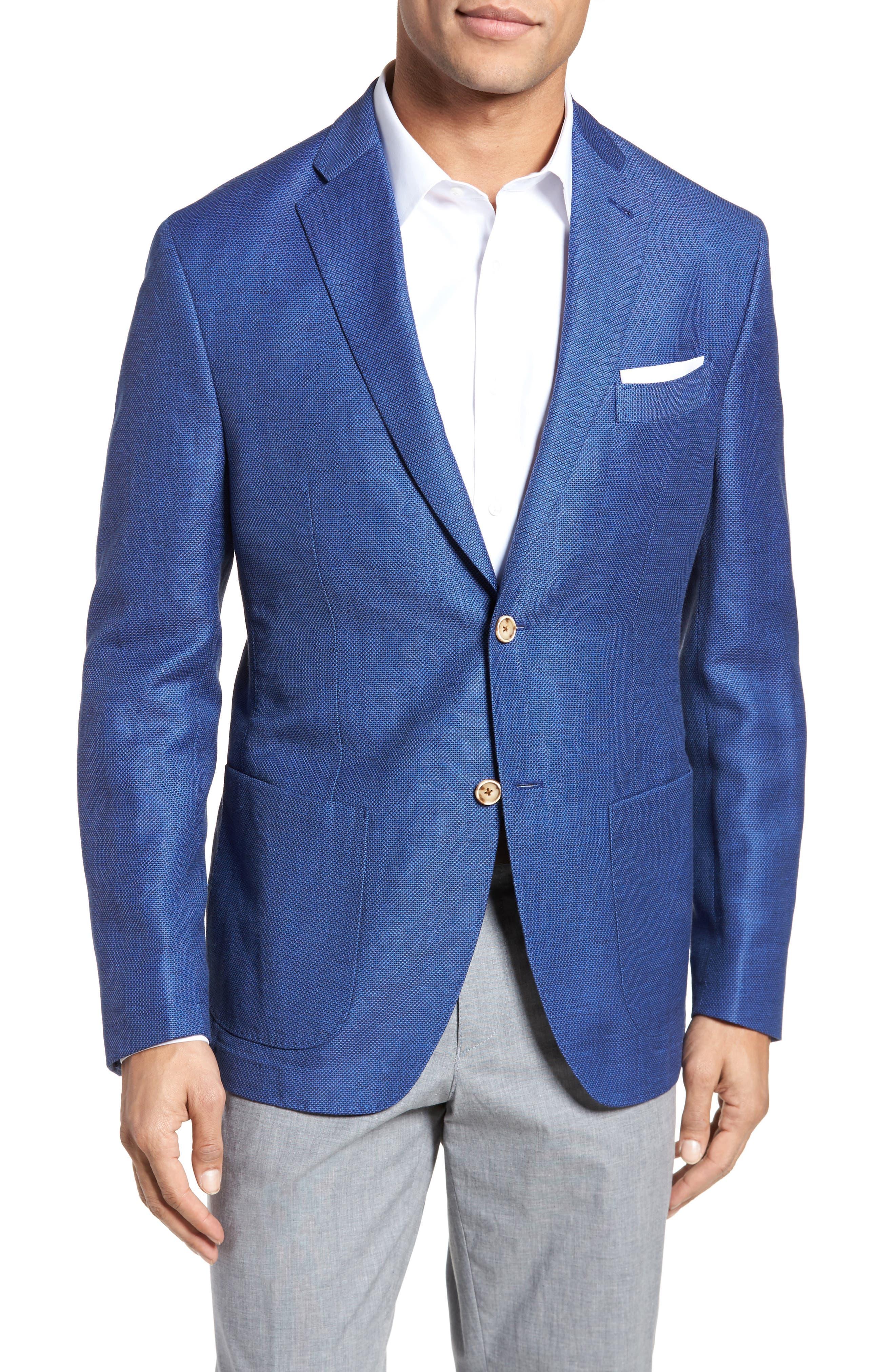Trent Trim Fit Linen & Wool Blazer,                         Main,                         color,