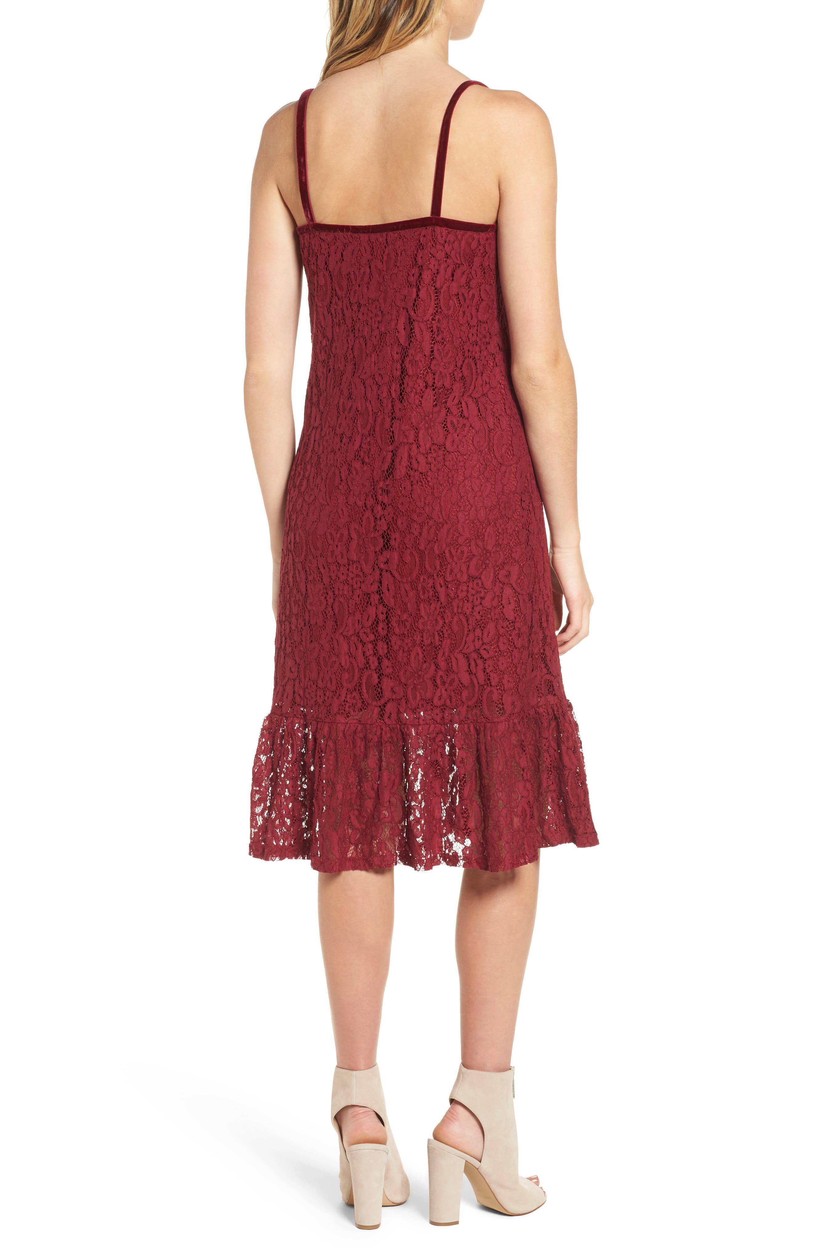 Lace Midi Dress,                             Alternate thumbnail 4, color,