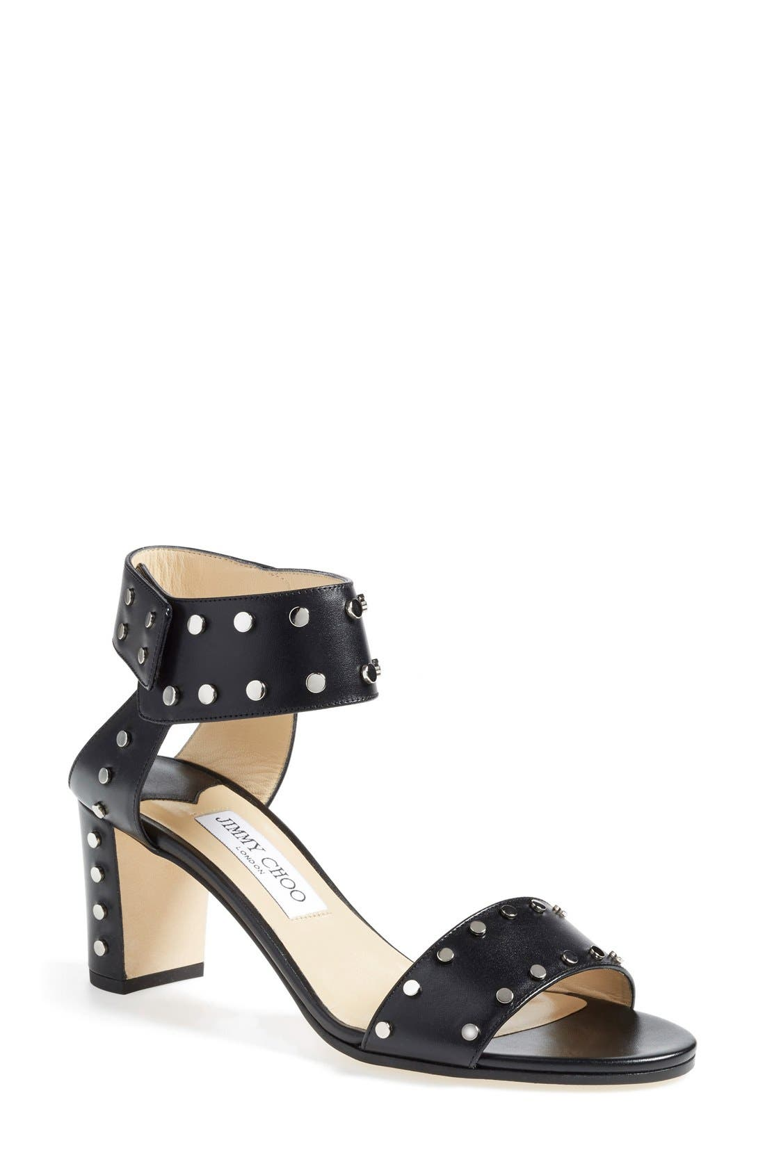'Veto' Studded Sandal,                             Main thumbnail 1, color,                             001