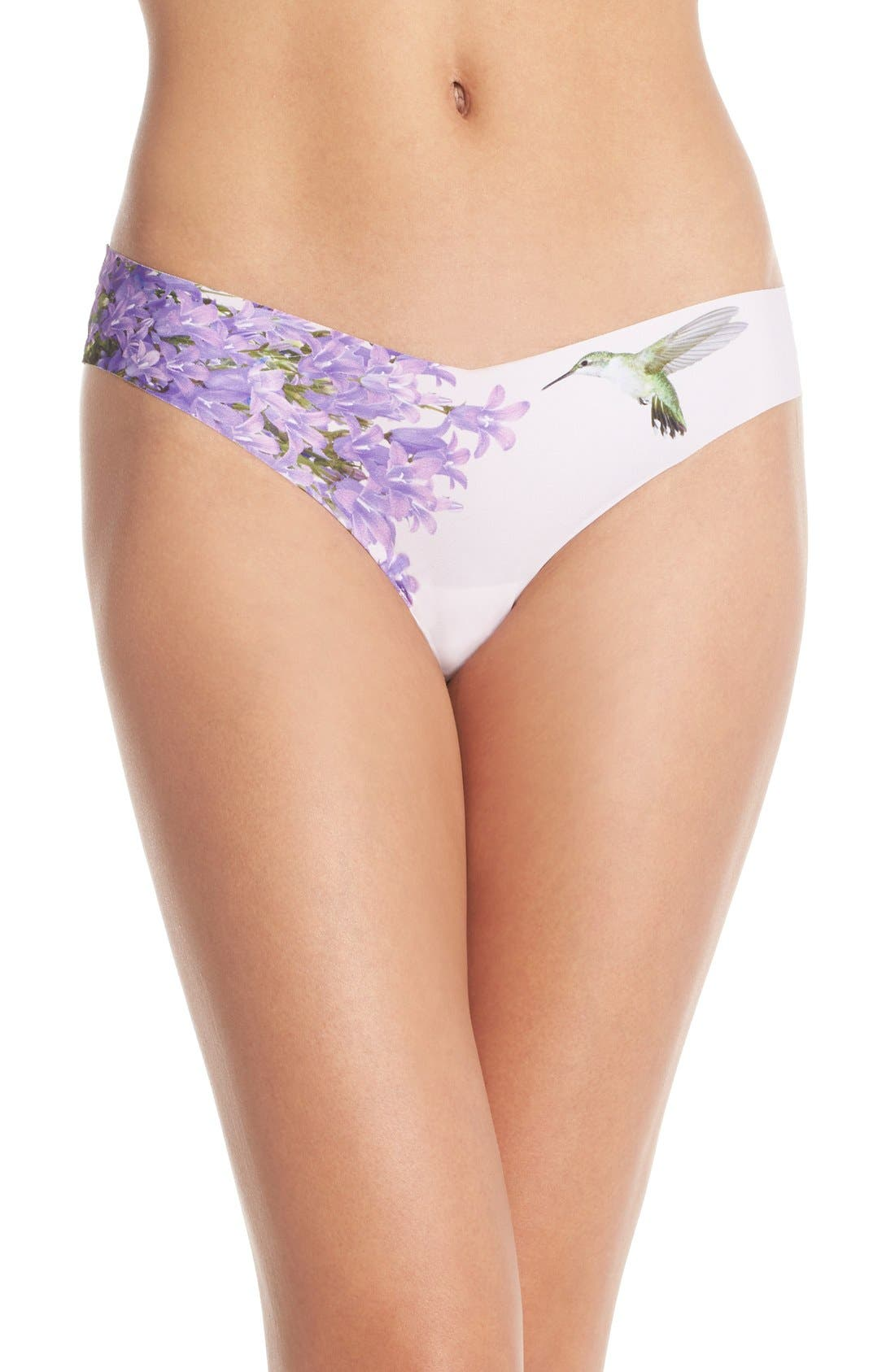 Print Microfiber Thong,                             Main thumbnail 71, color,