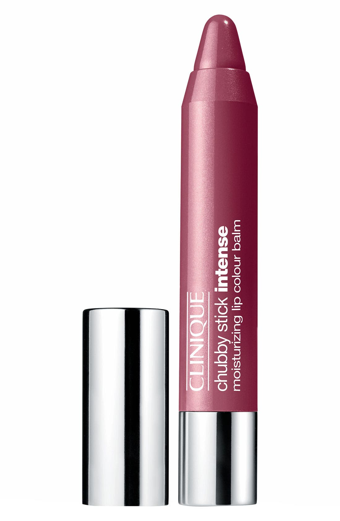 CLINIQUE,                             Chubby Stick Intense Moisturizing Lip Color Balm,                             Main thumbnail 1, color,                             07 BROADEST BERRY
