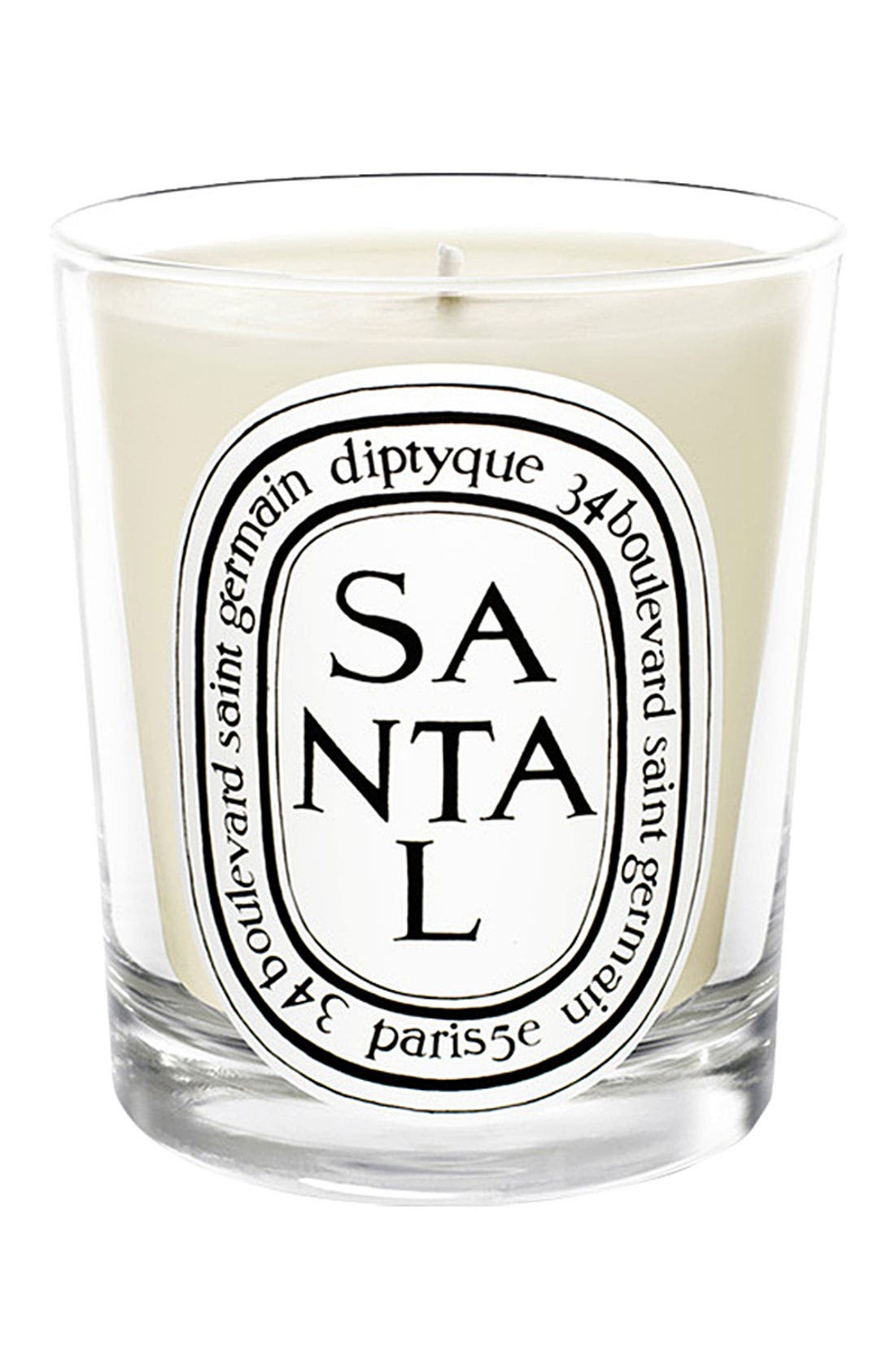 Santal/Sandalwood Scented Candle,                             Main thumbnail 1, color,                             NO COLOR