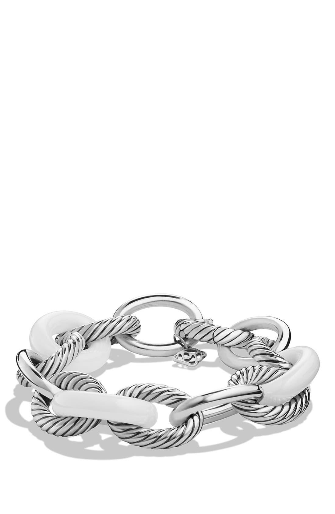 'Oval' Extra-Large Ceramic Link Bracelet,                             Main thumbnail 2, color,
