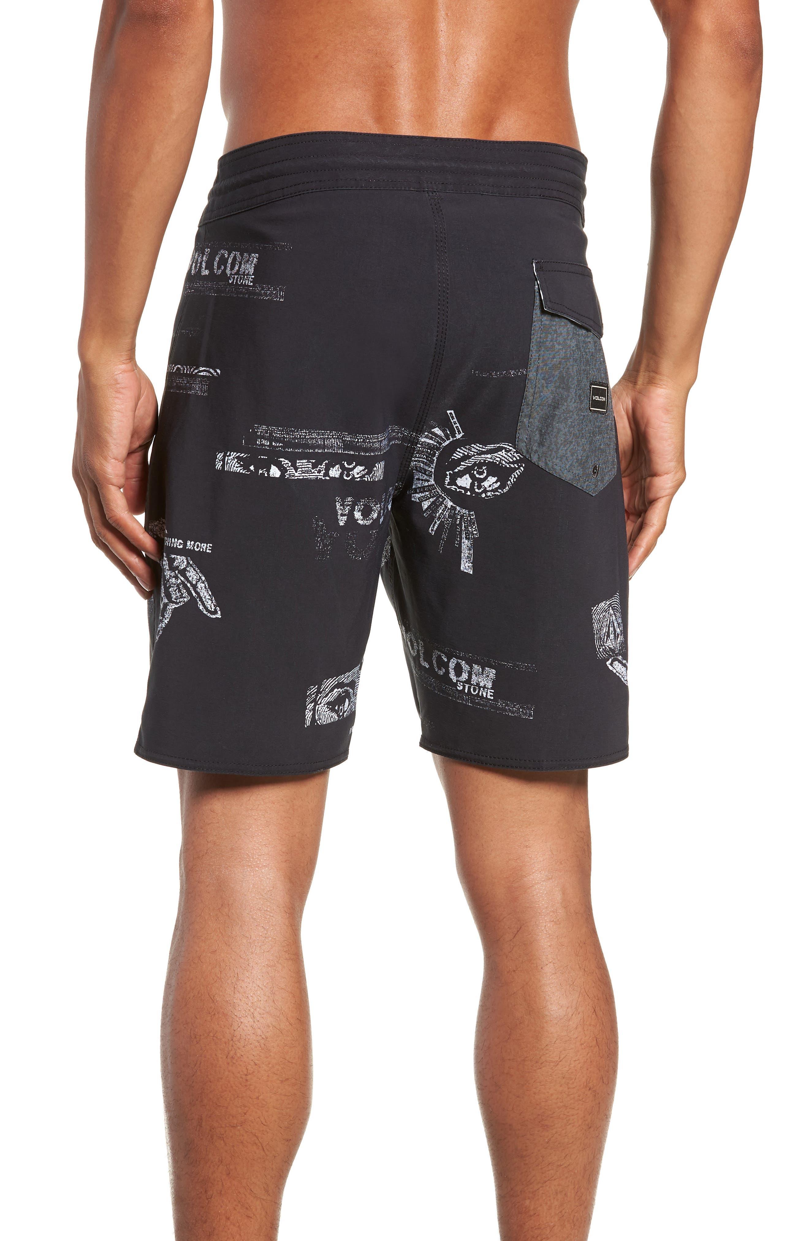 Nothing More Stoney Board Shorts,                             Alternate thumbnail 2, color,                             BLACK WHITE