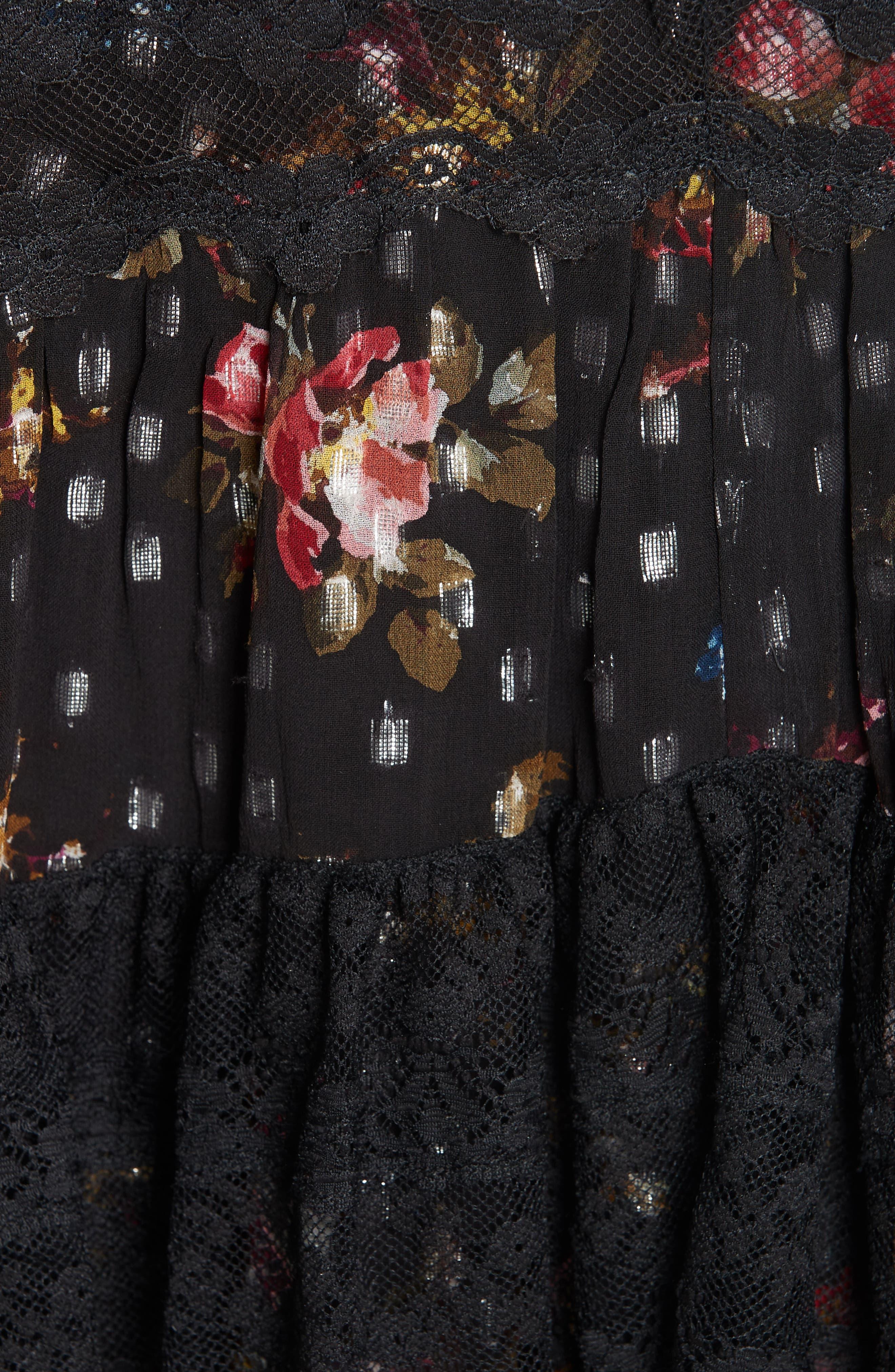 Cosmic Forest Skirt,                             Alternate thumbnail 5, color,                             GRAPHITE