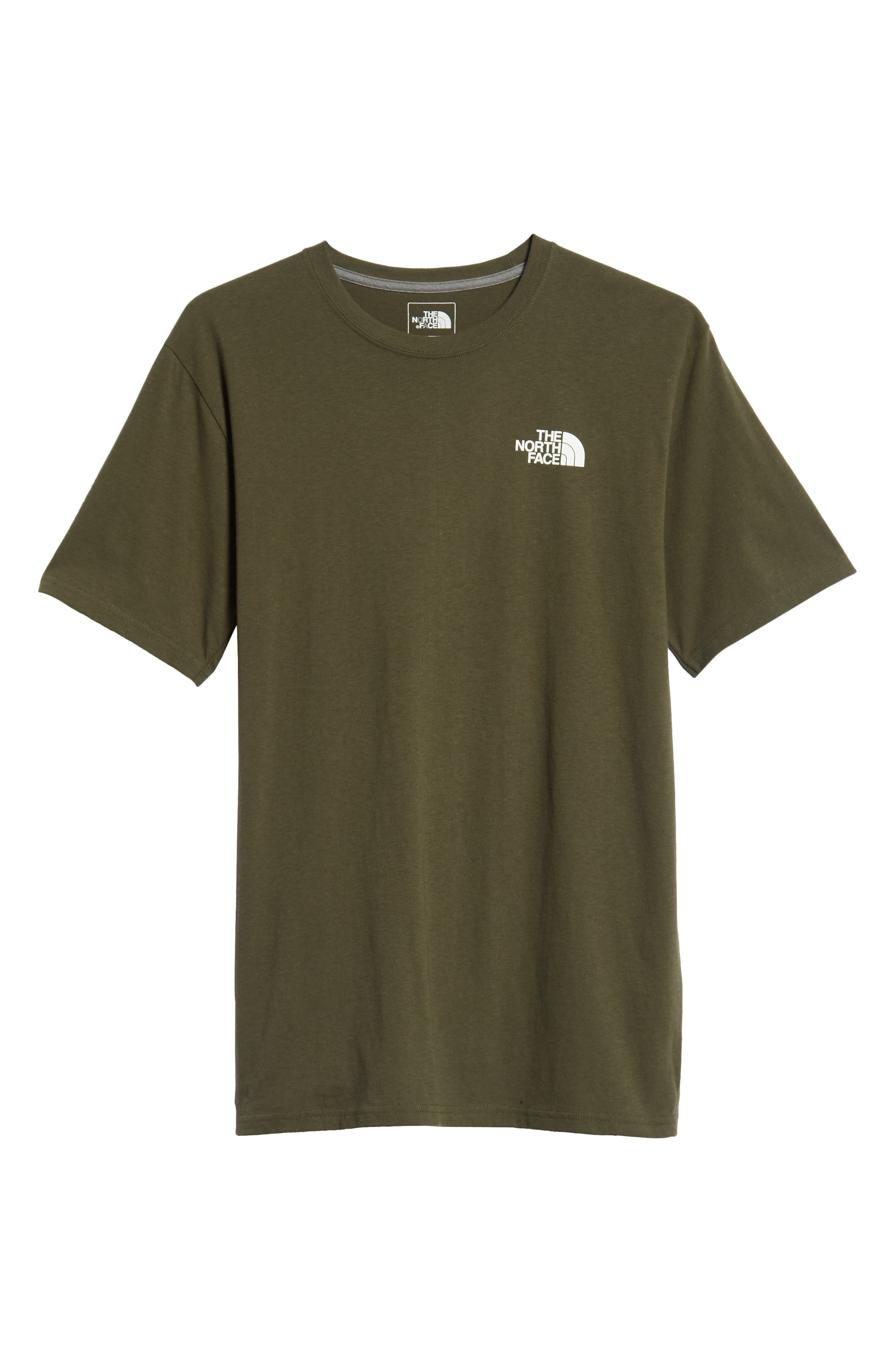 'Red Box' Graphic T-Shirt,                             Alternate thumbnail 6, color,                             TAUPE GREEN/ TNF BLACK