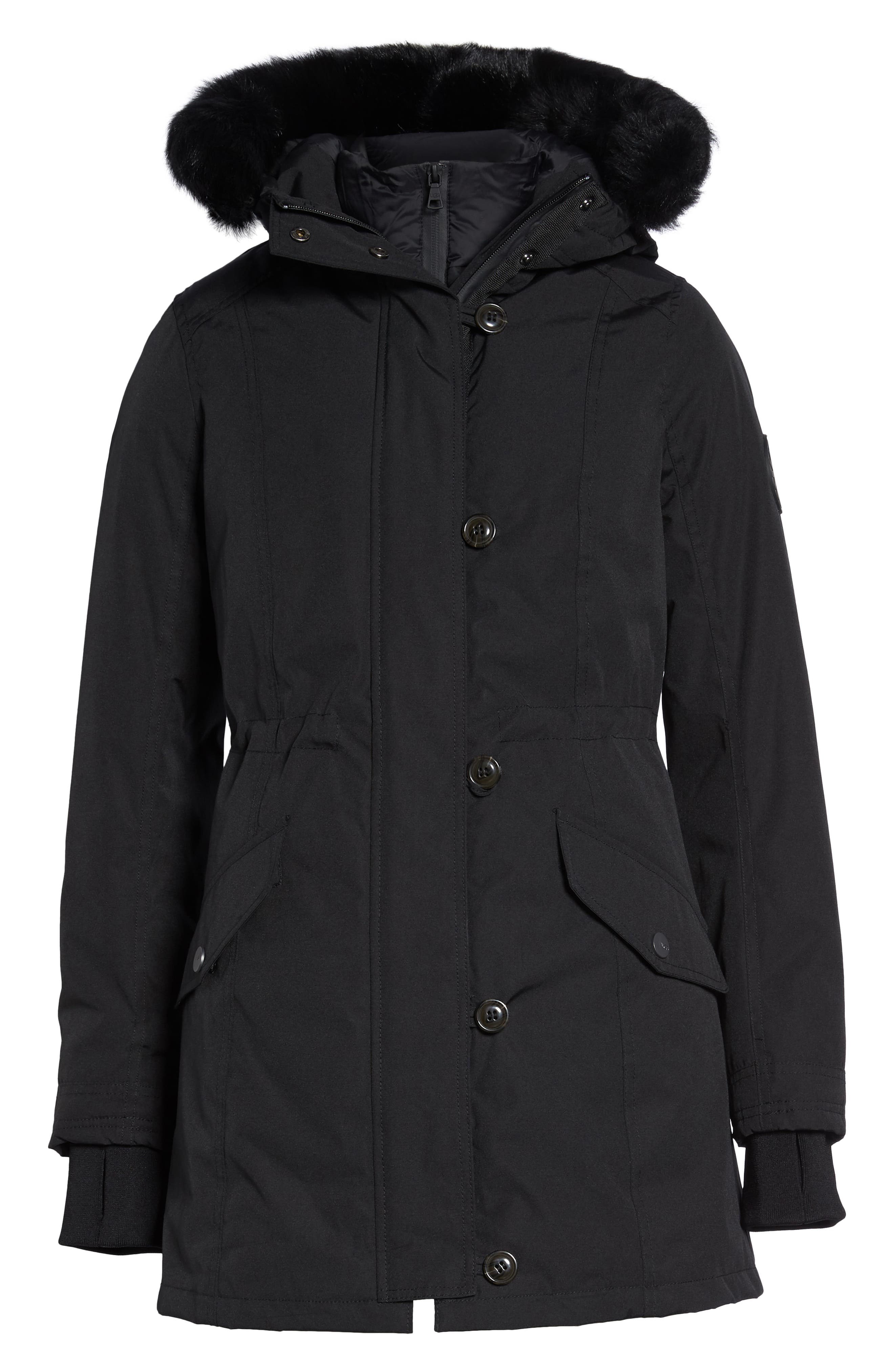 Adirondack Down Parka,                             Alternate thumbnail 7, color,                             BLACK