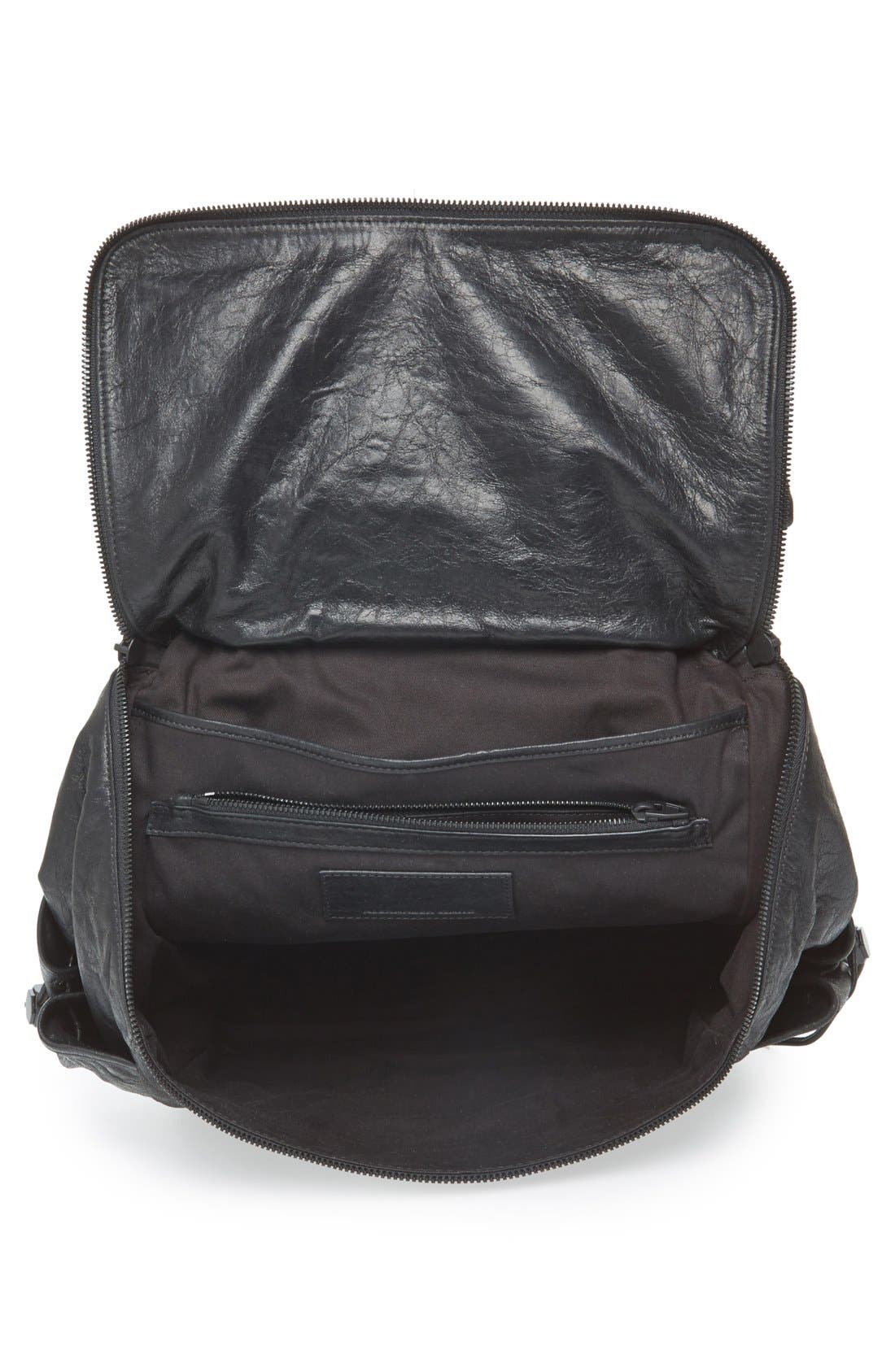 'Wallie' Leather Backpack,                             Alternate thumbnail 2, color,                             001