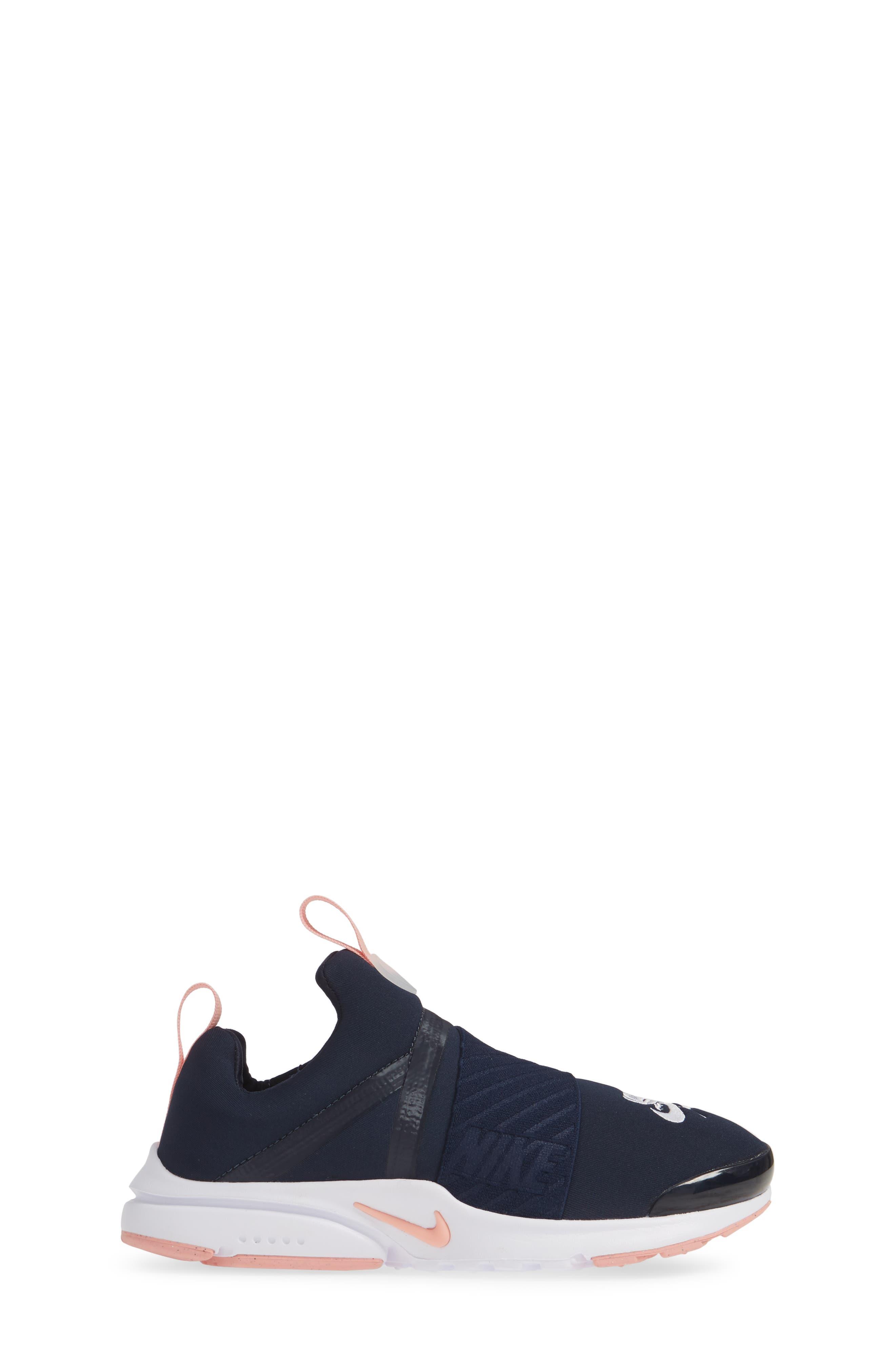 NIKE,                             Presto Extreme VDAY Sneaker,                             Alternate thumbnail 3, color,                             OBSIDIAN/ BLEACHED CORAL-WHITE