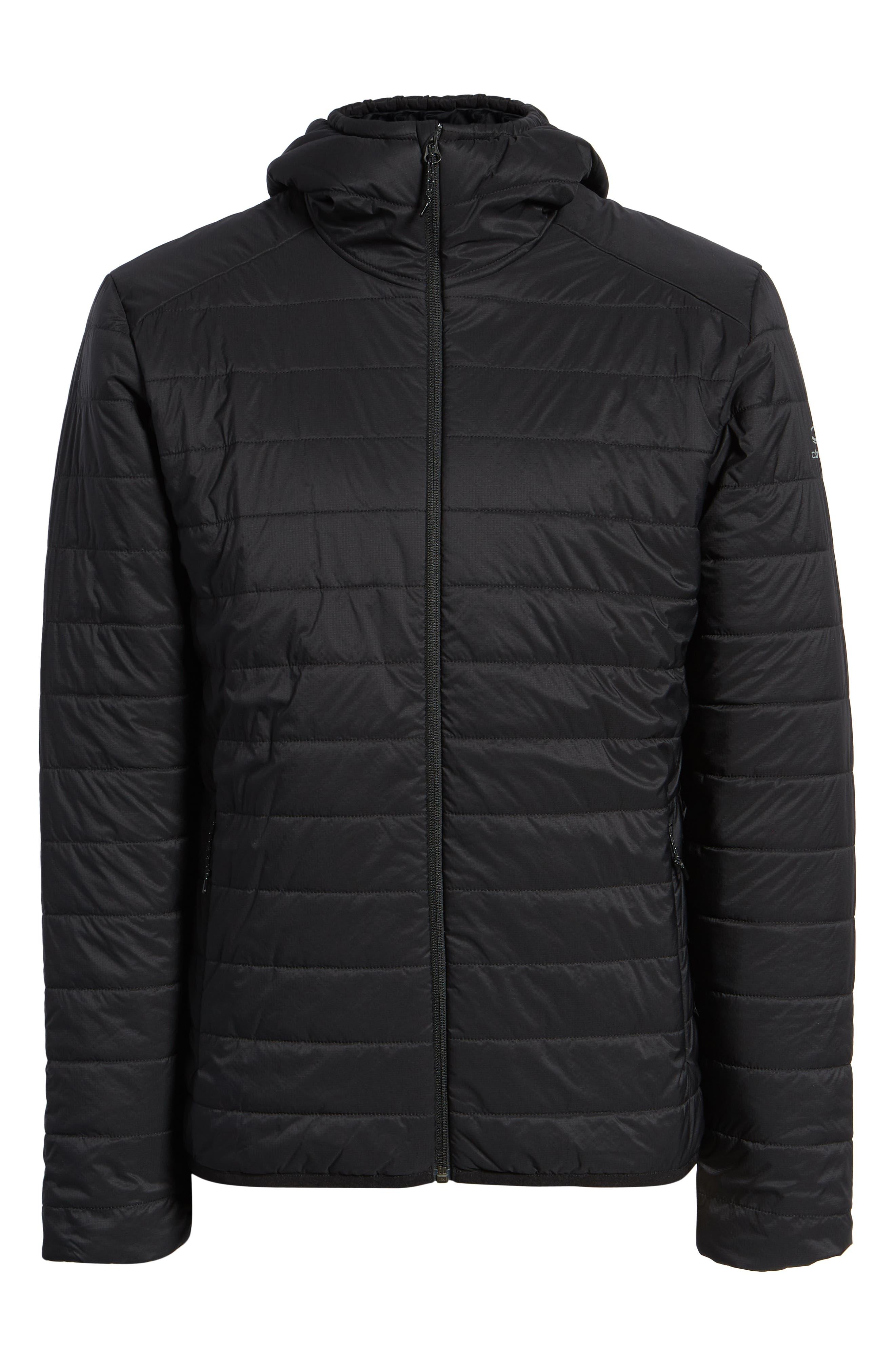 Hyperia MerinoLOFT<sup>™</sup> Hooded Jacket,                             Alternate thumbnail 6, color,                             BLACK