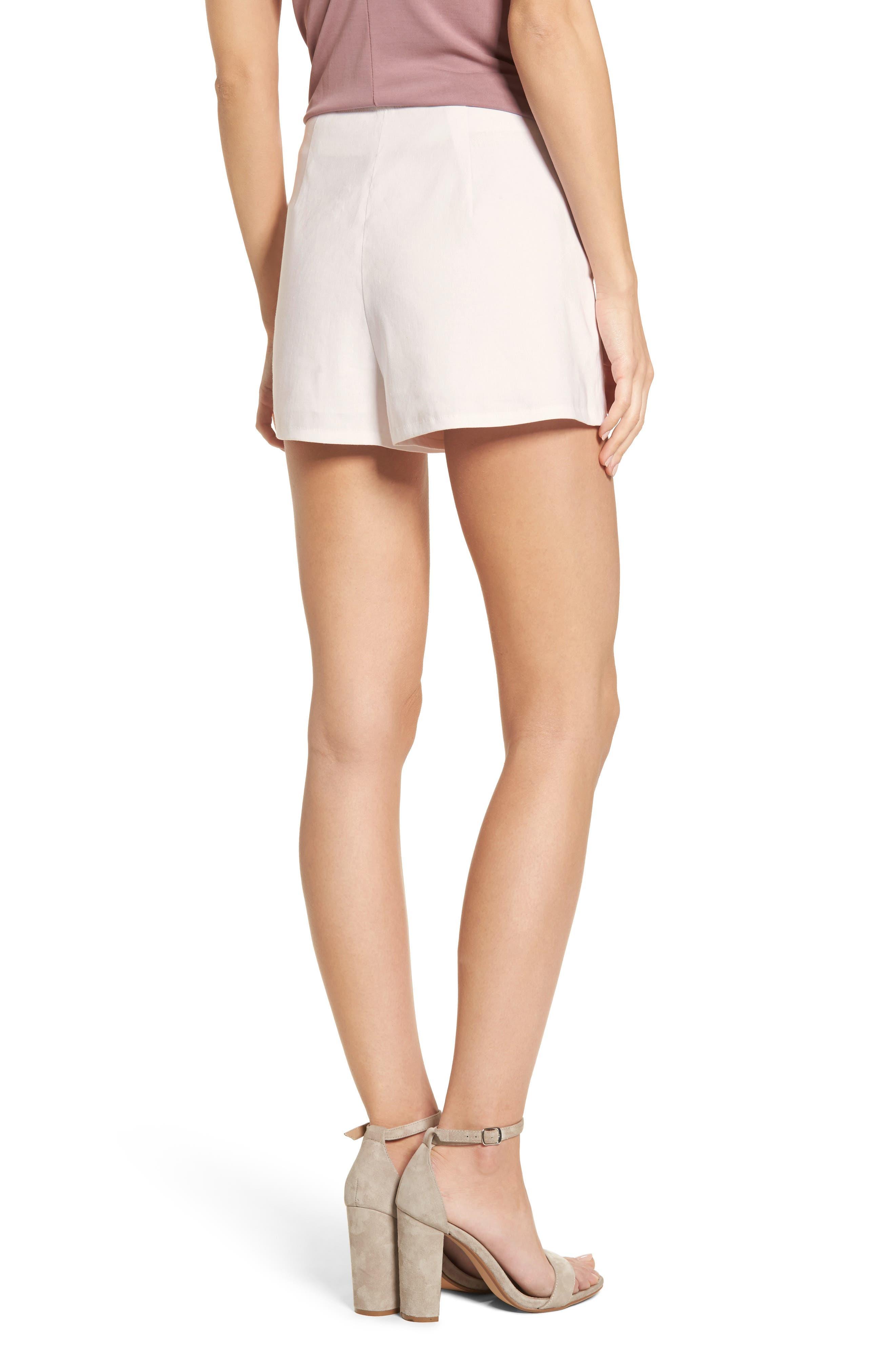 High Waist Linen Blend Shorts,                             Alternate thumbnail 10, color,