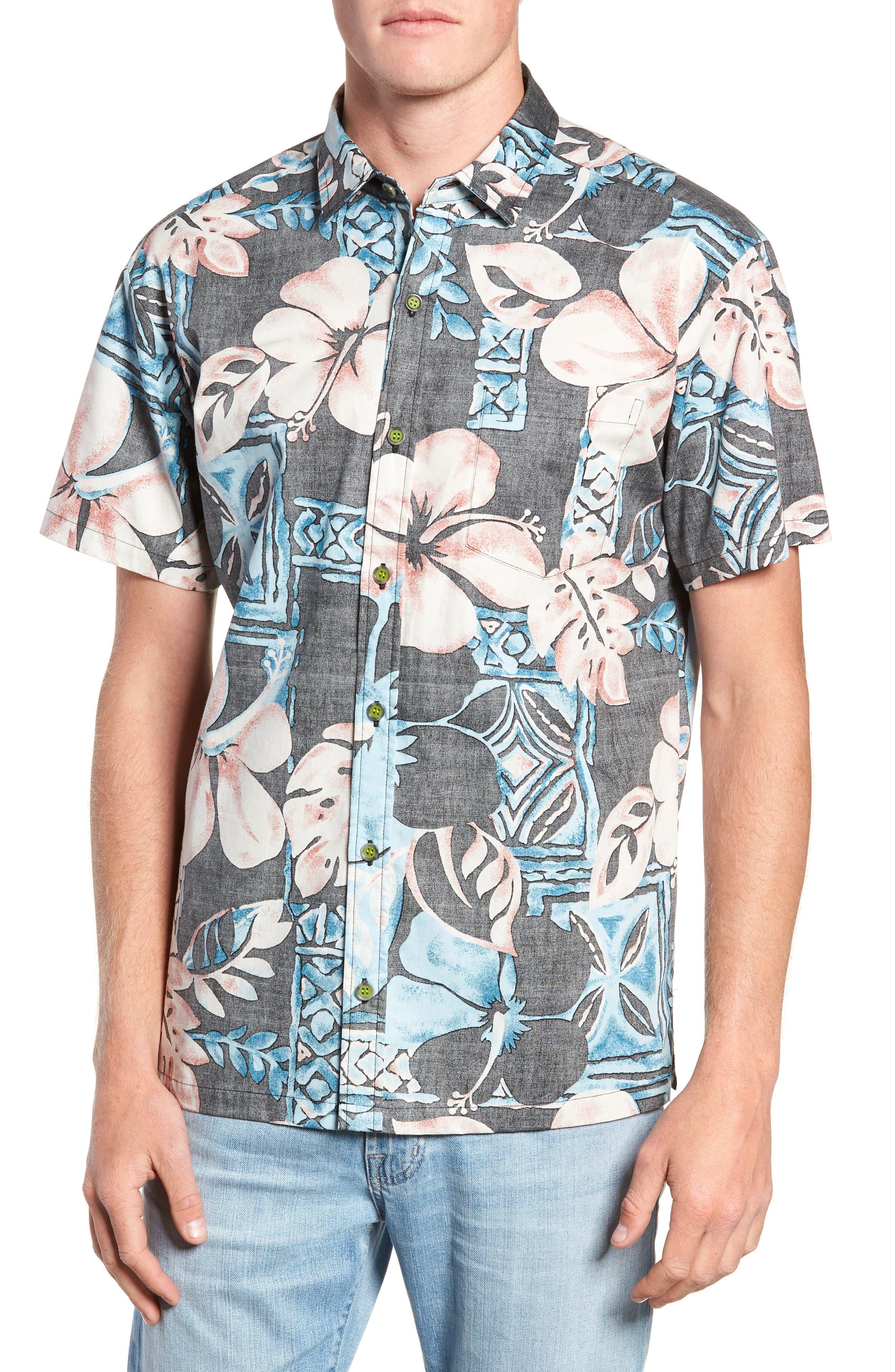 Ahiahi Classic Fit Sport Shirt,                         Main,                         color, BLACK