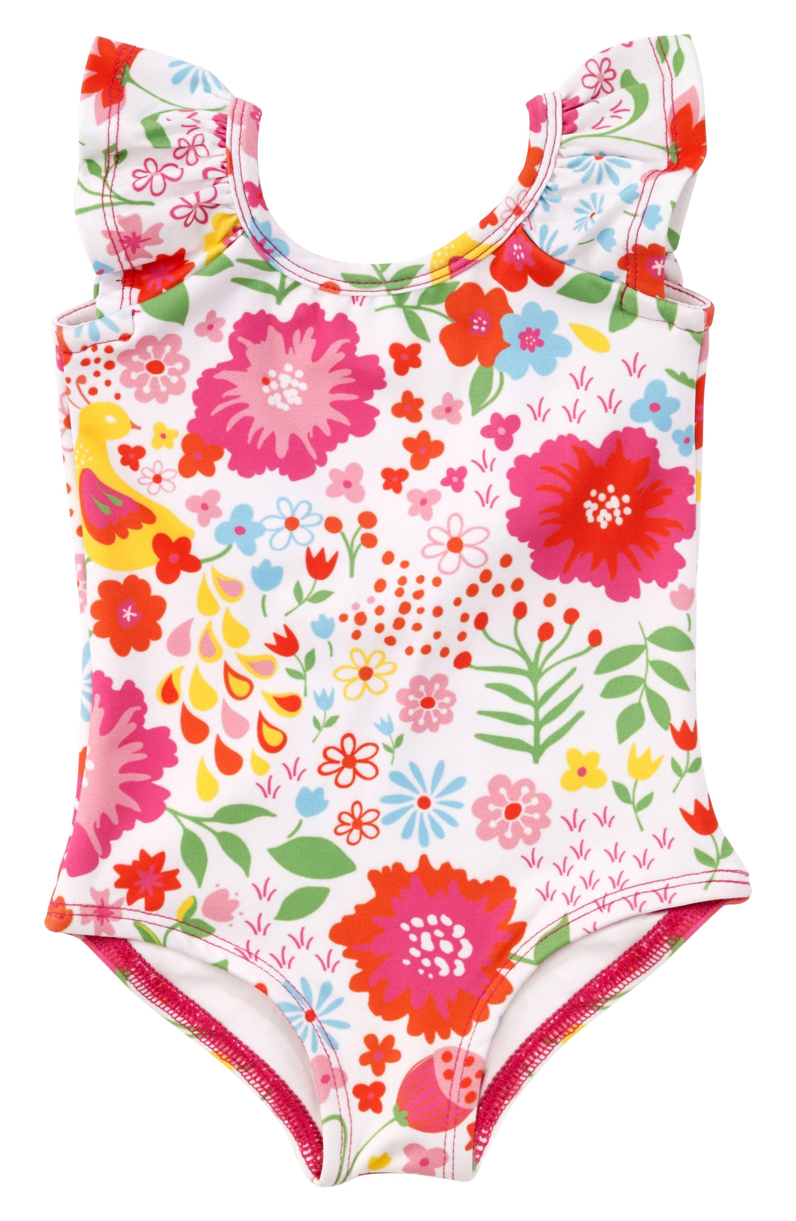 Flutter One-Piece Swimsuit,                         Main,                         color, 160