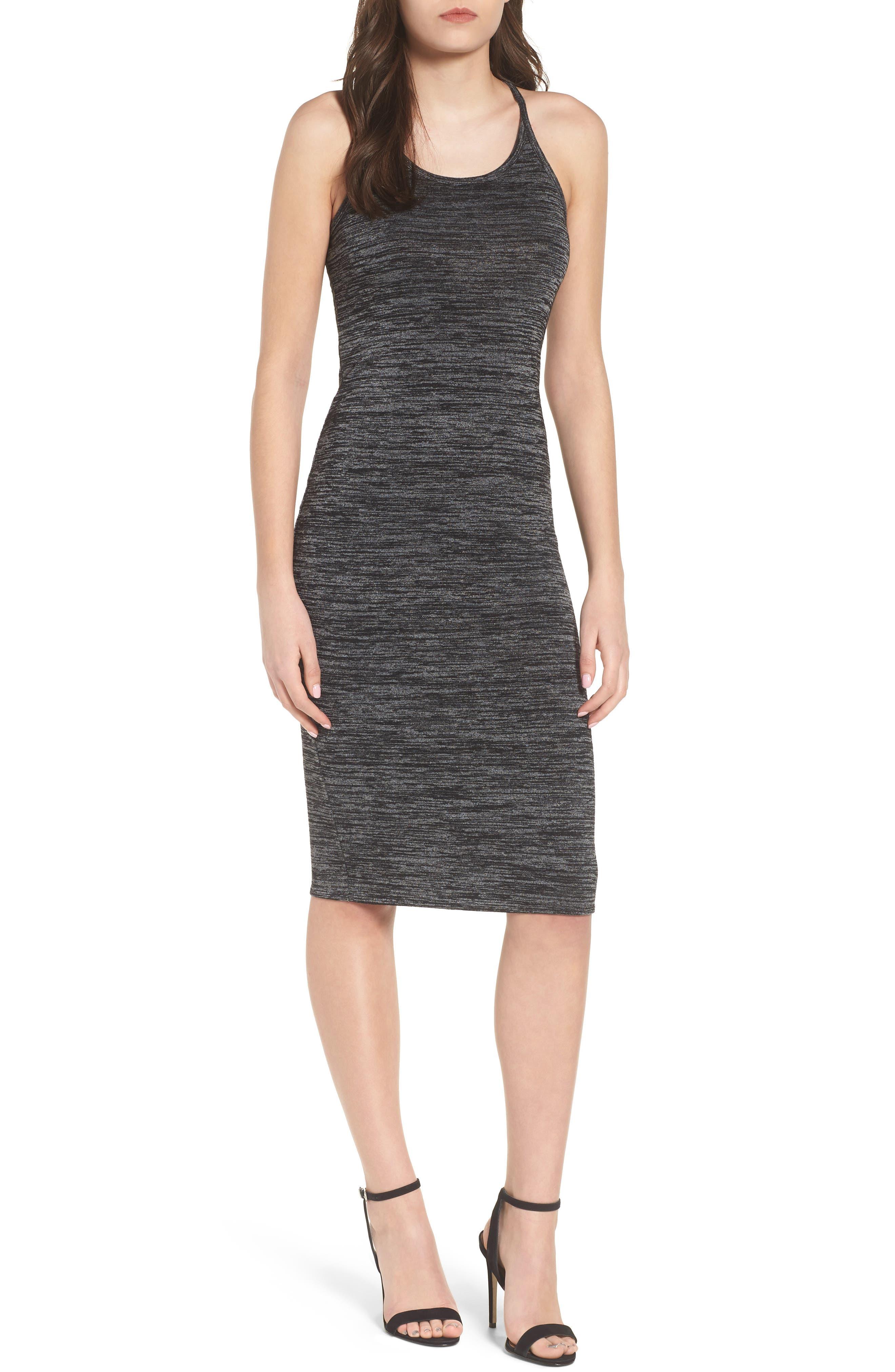 Mélange Body-Con Dress,                             Main thumbnail 1, color,                             021