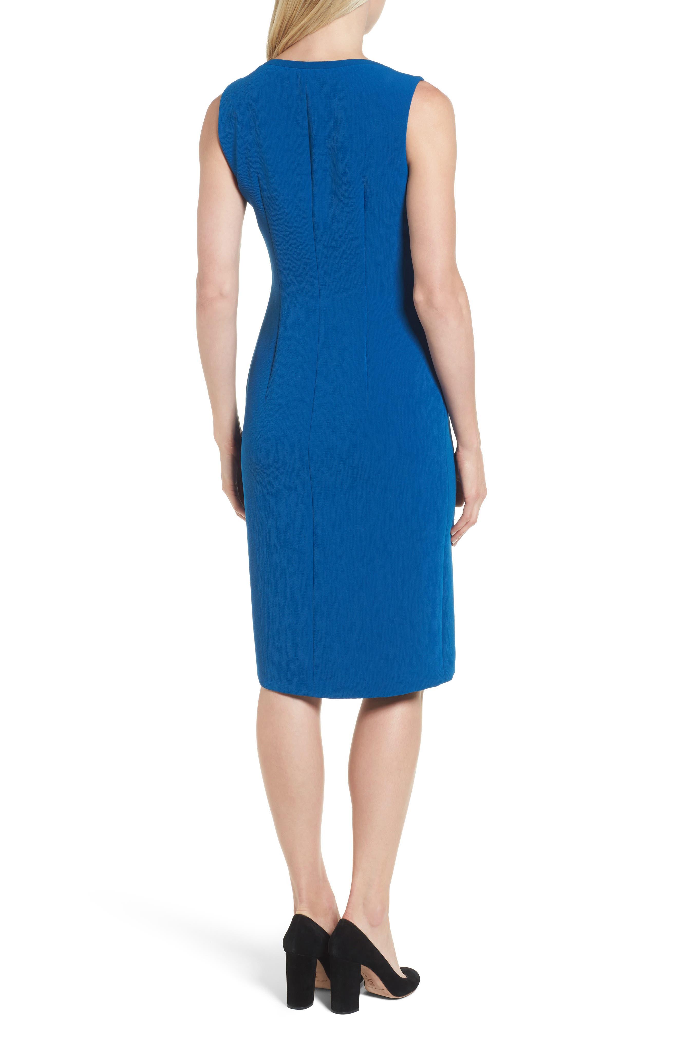 Danafea Zip Detail Sheath Dress,                             Alternate thumbnail 2, color,                             424