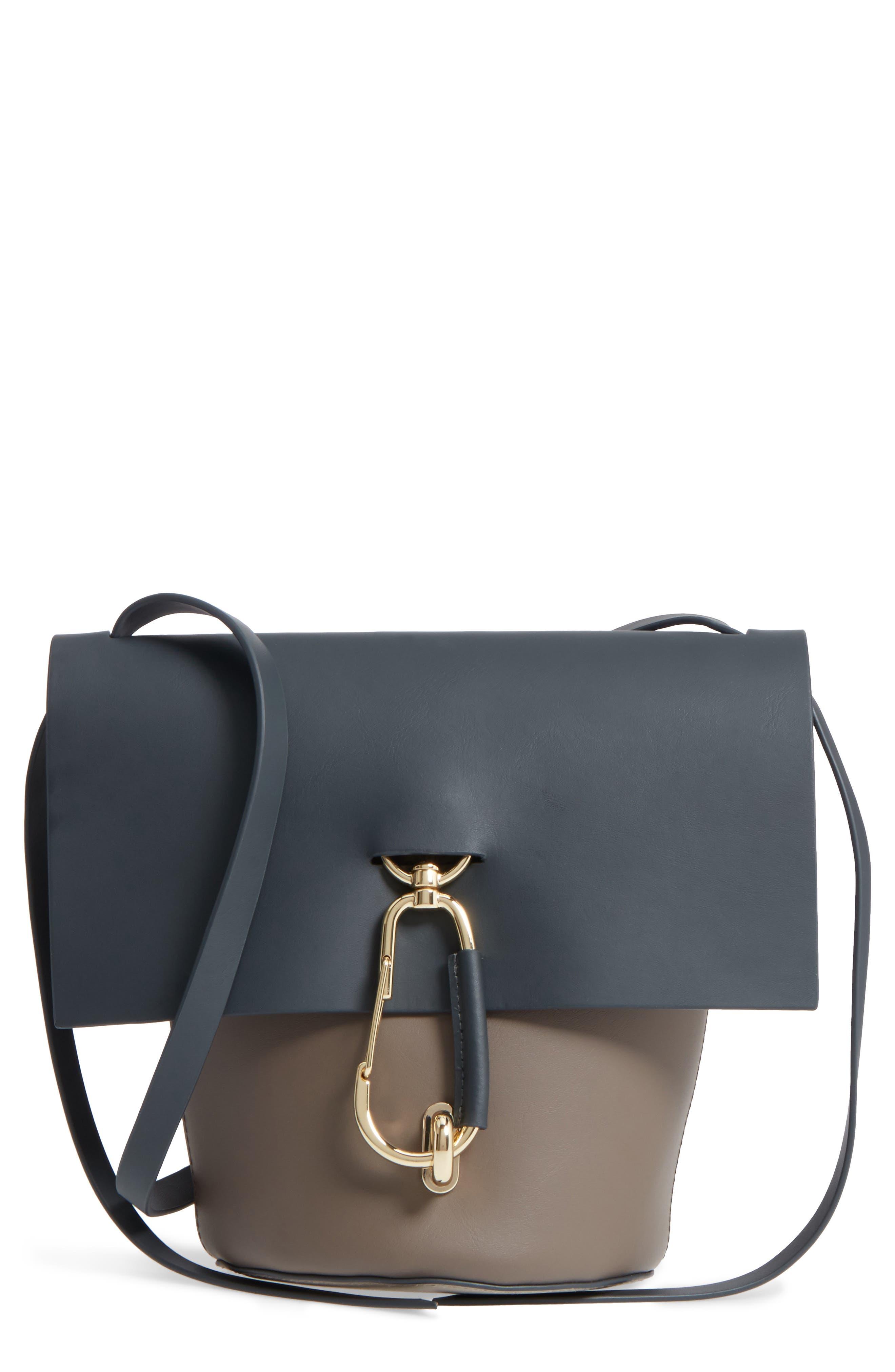 Belay Colorblock Leather Crossbody Bag,                             Main thumbnail 1, color,                             020