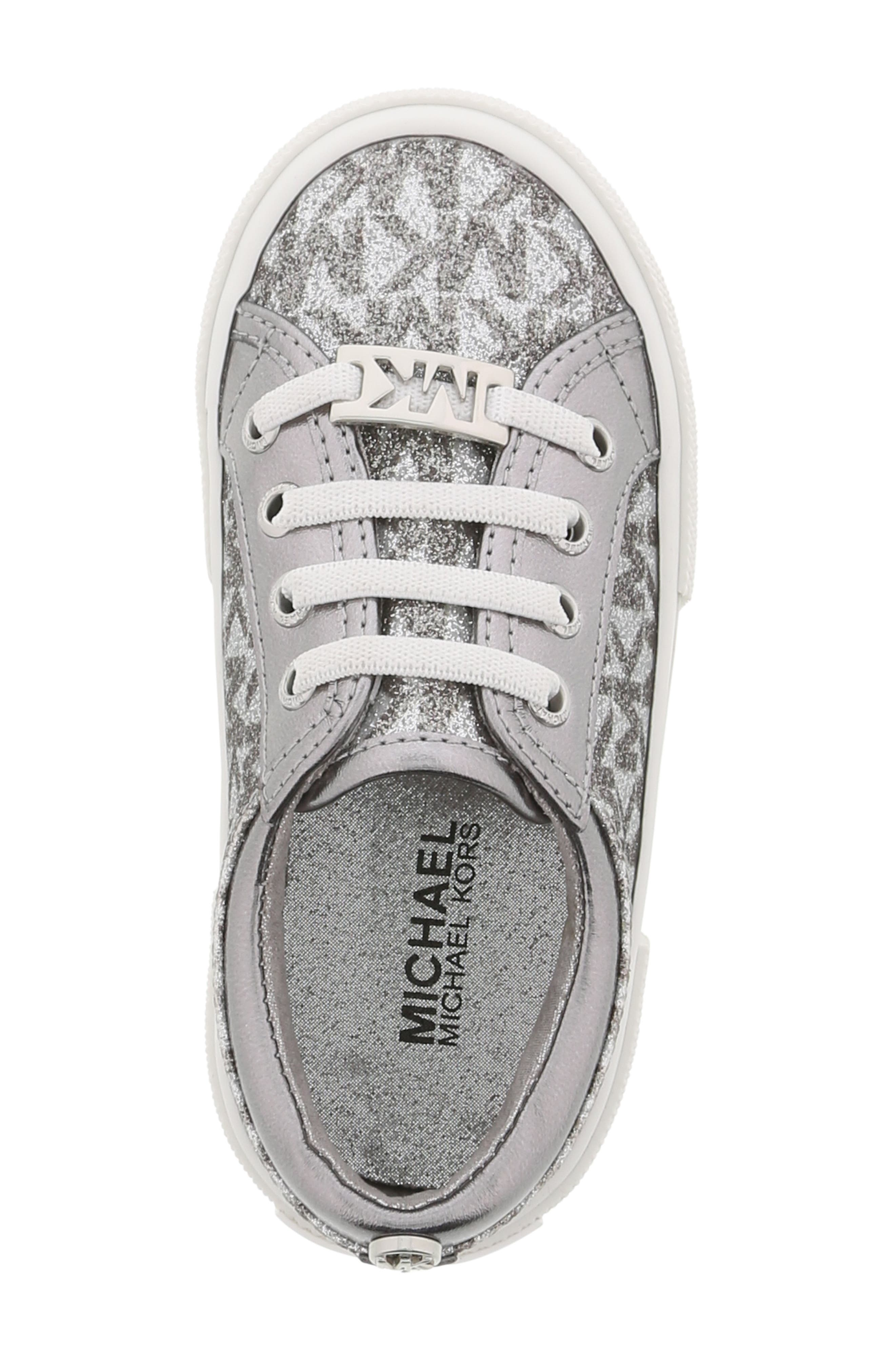 MICHAEL MICHAEL KORS,                             Ima Tinsel Sneaker,                             Alternate thumbnail 5, color,                             GUNMETAL