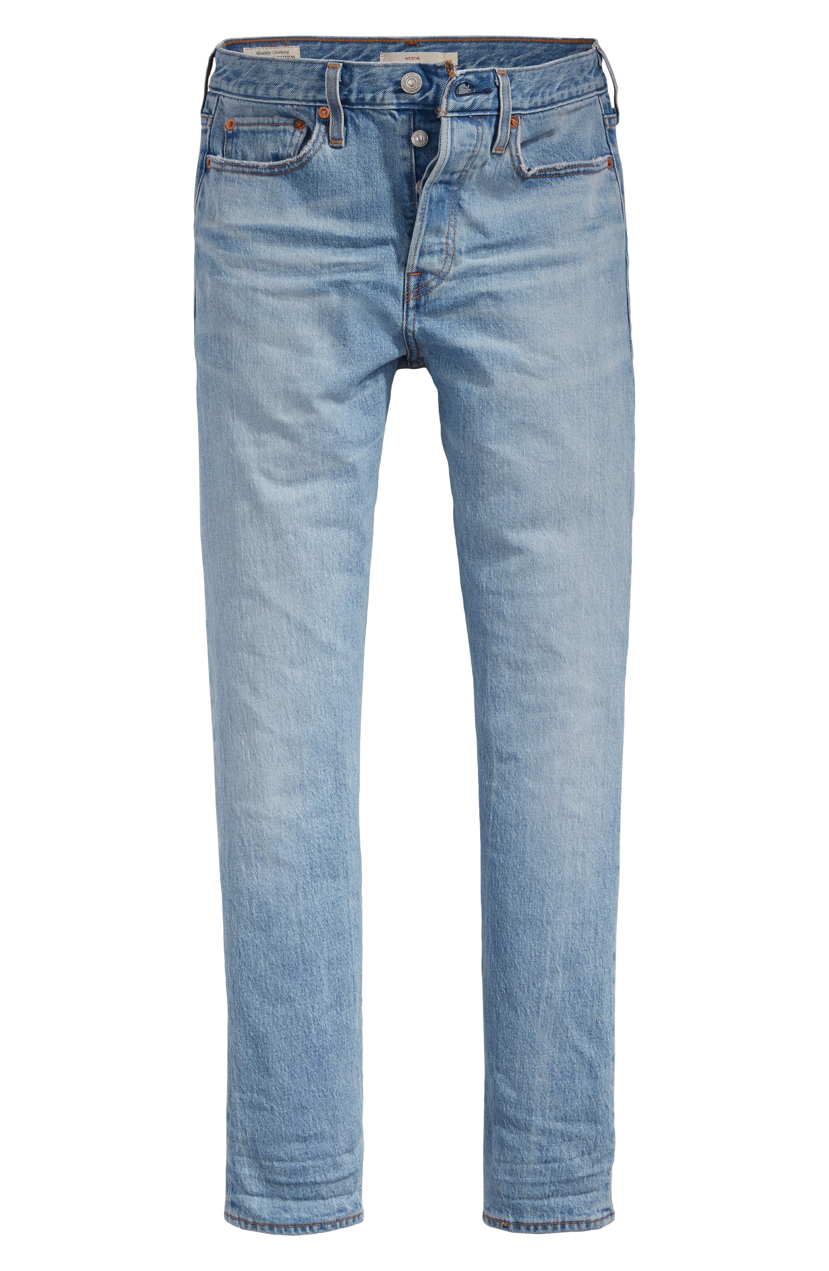 LEVI'S<SUP>®</SUP>,                             Wedgie Icon Fit High Waist Ankle Jeans,                             Alternate thumbnail 4, color,                             BRIGHT SIDE