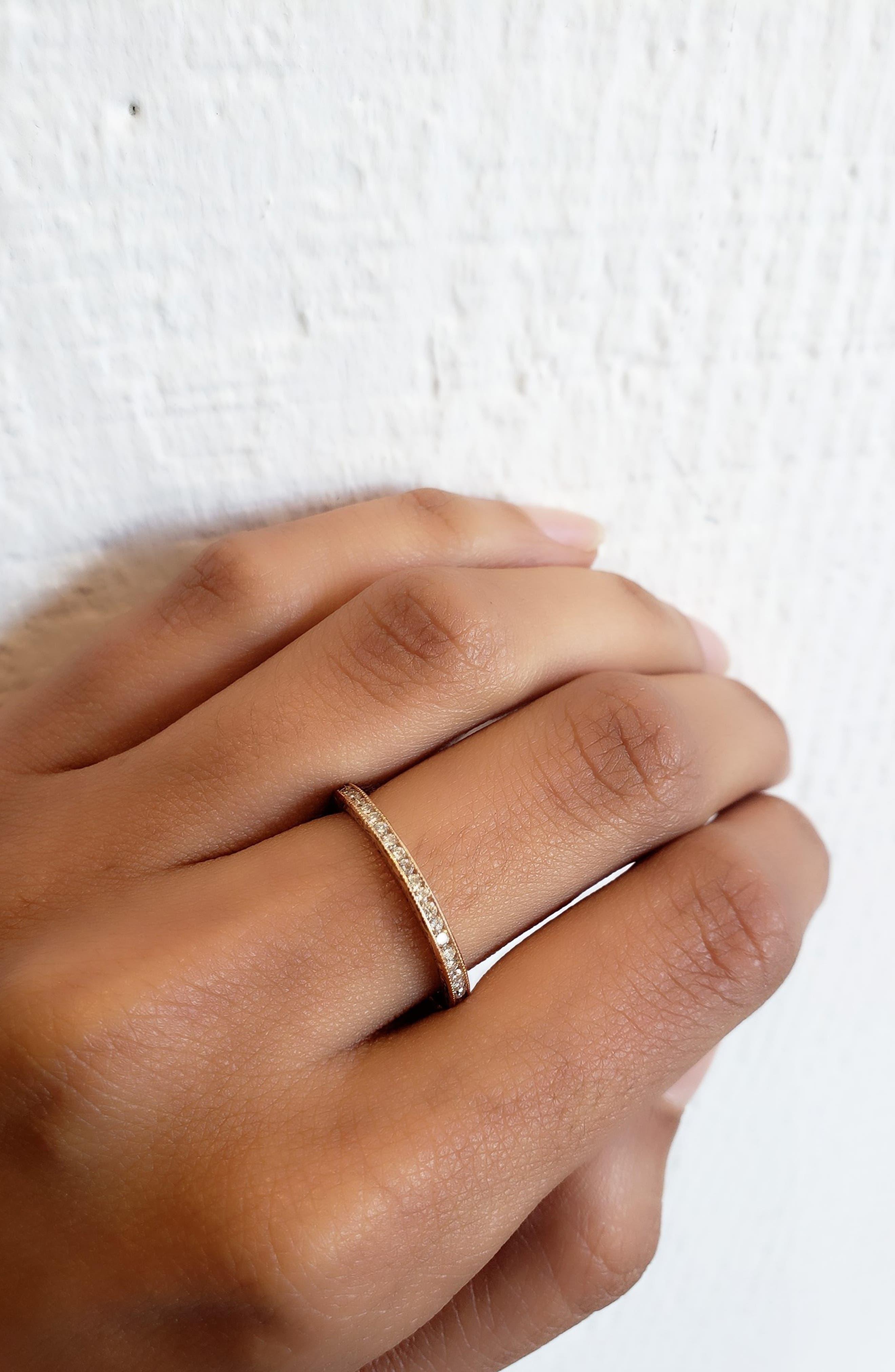 Channel Set Diamond Ring,                             Alternate thumbnail 2, color,                             ROSE GOLD