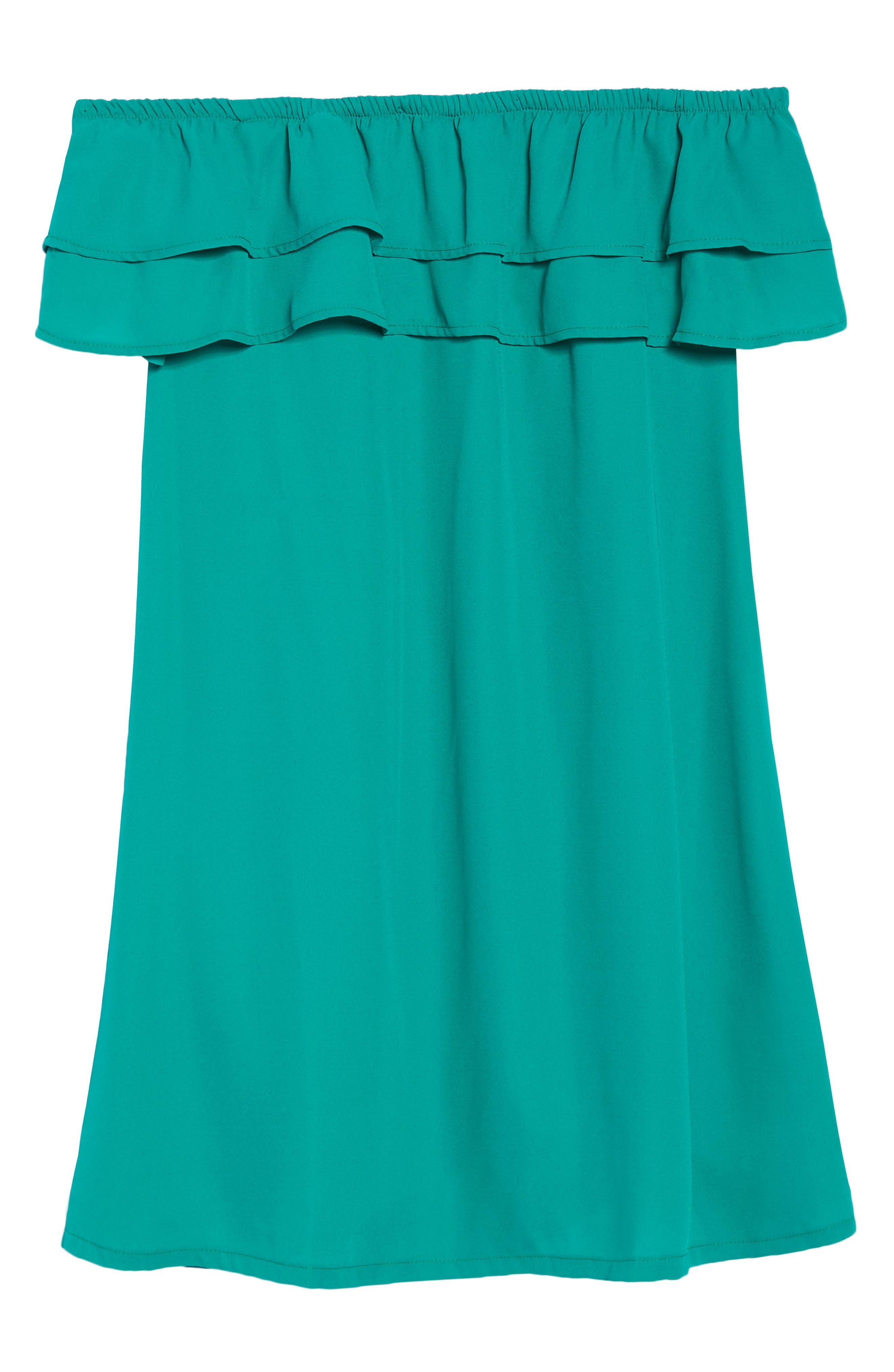 Off the Shoulder Ruffle Dress,                             Alternate thumbnail 46, color,