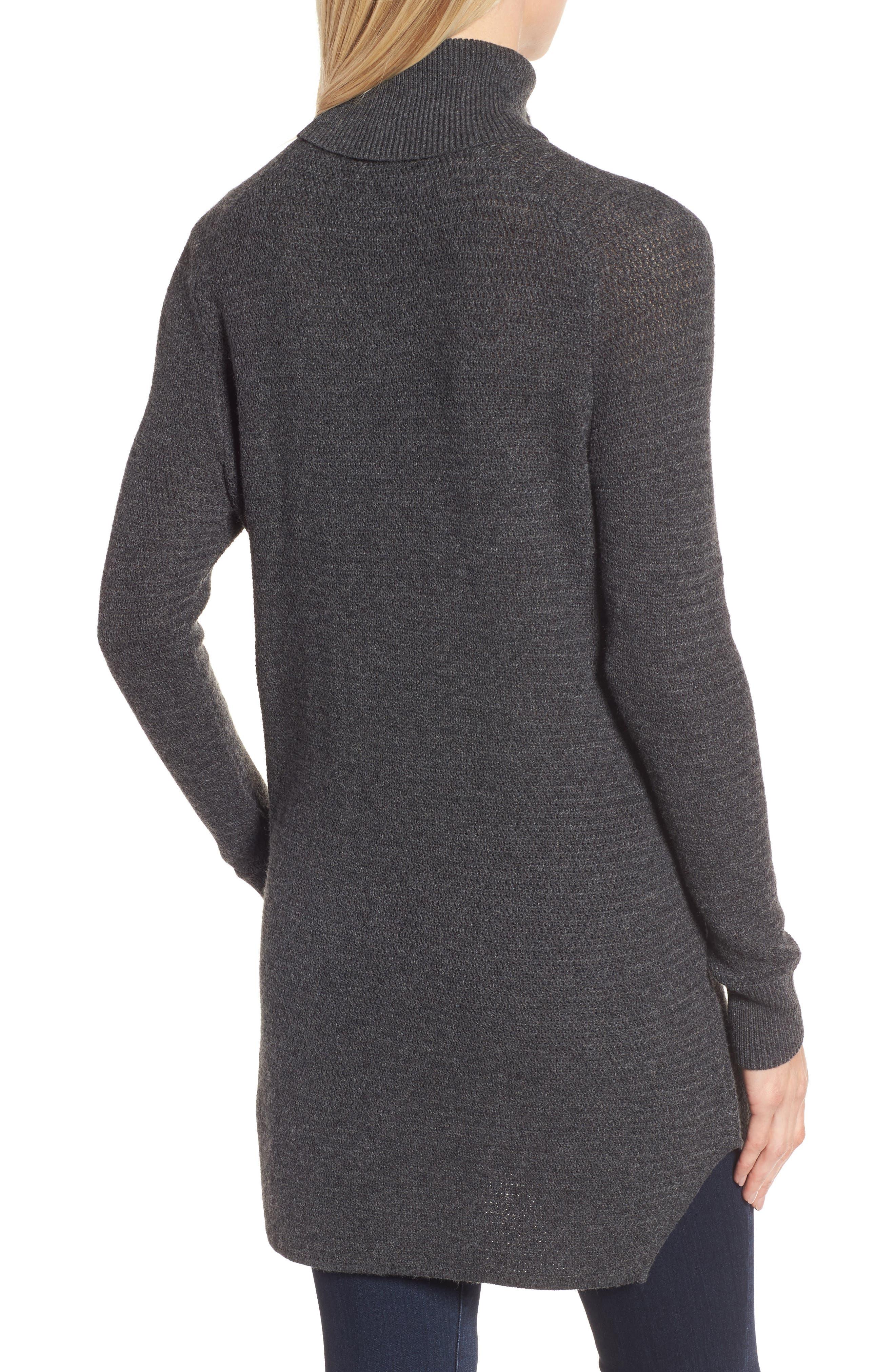 Turtleneck Tunic Sweater,                             Alternate thumbnail 2, color,                             021