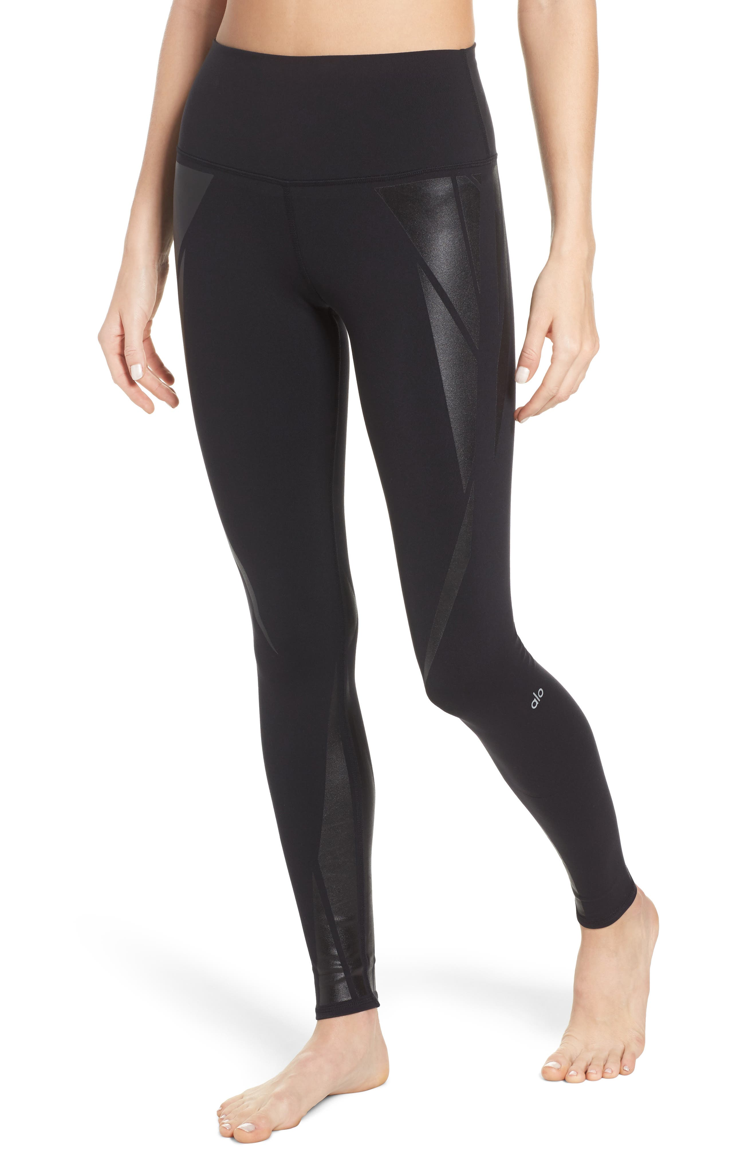 Airbrush High Waist Leggings,                         Main,                         color, 011