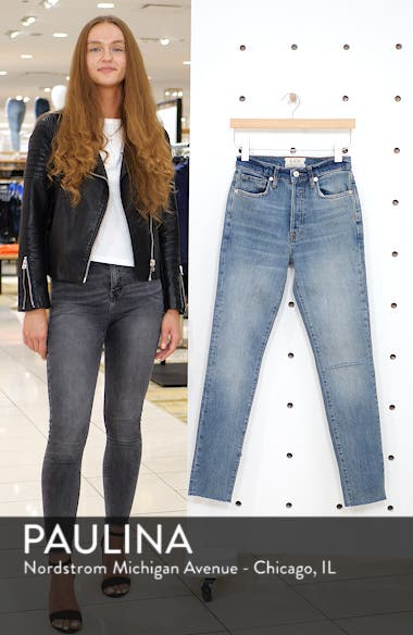 We the Free by Free People Stella High Waist Raw Hem Skinny Jeans, sales video thumbnail