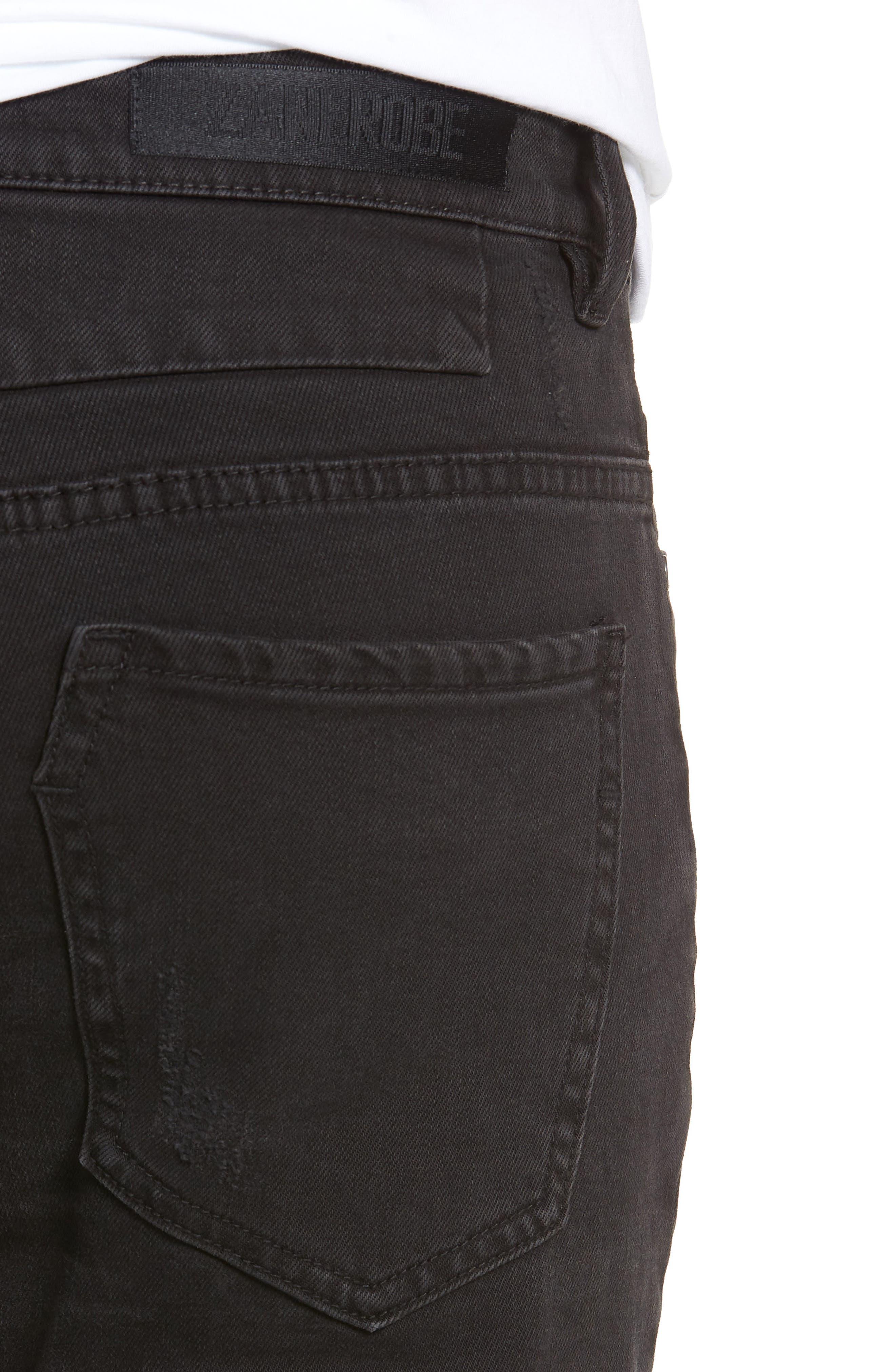 Joe Blow Slim Fit Jeans,                             Alternate thumbnail 4, color,                             BUSTED BLACK