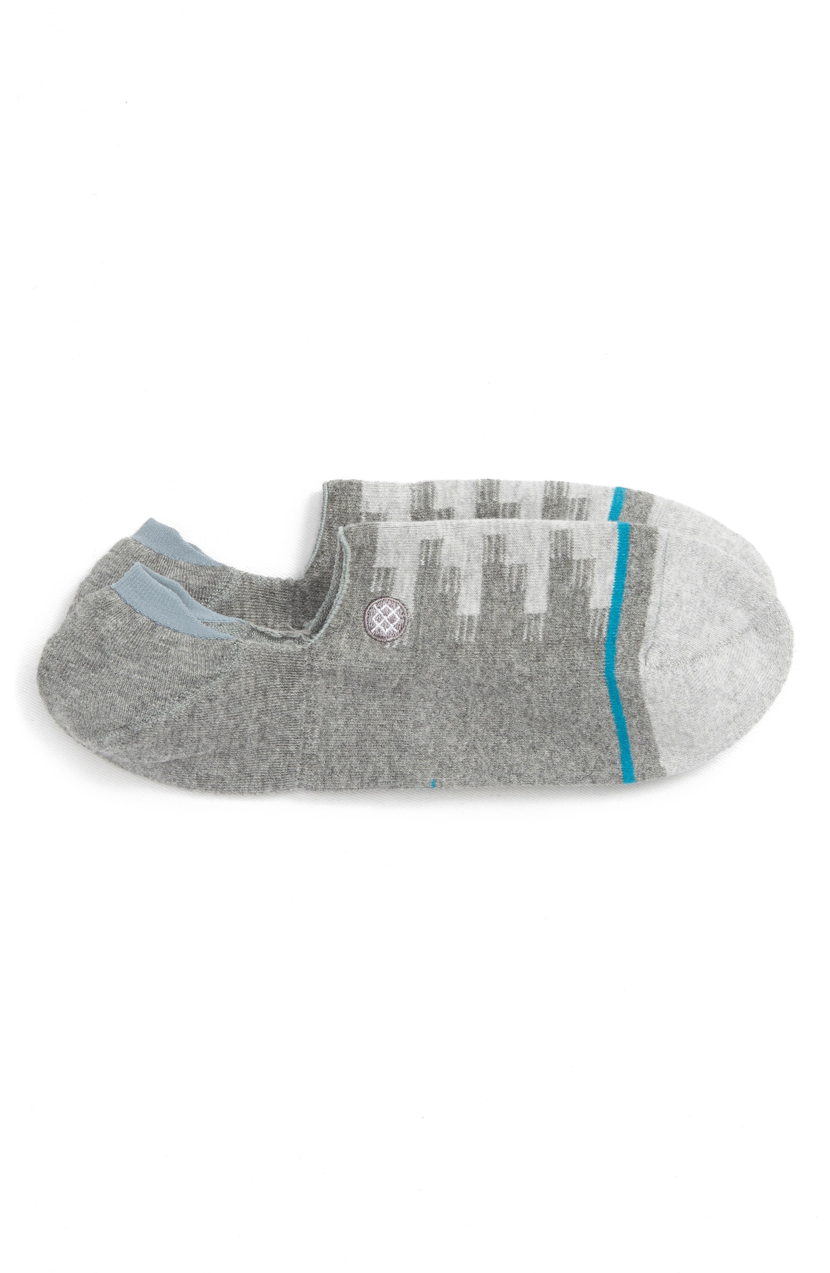 Laretto No-Show Socks,                             Main thumbnail 1, color,                             GREY
