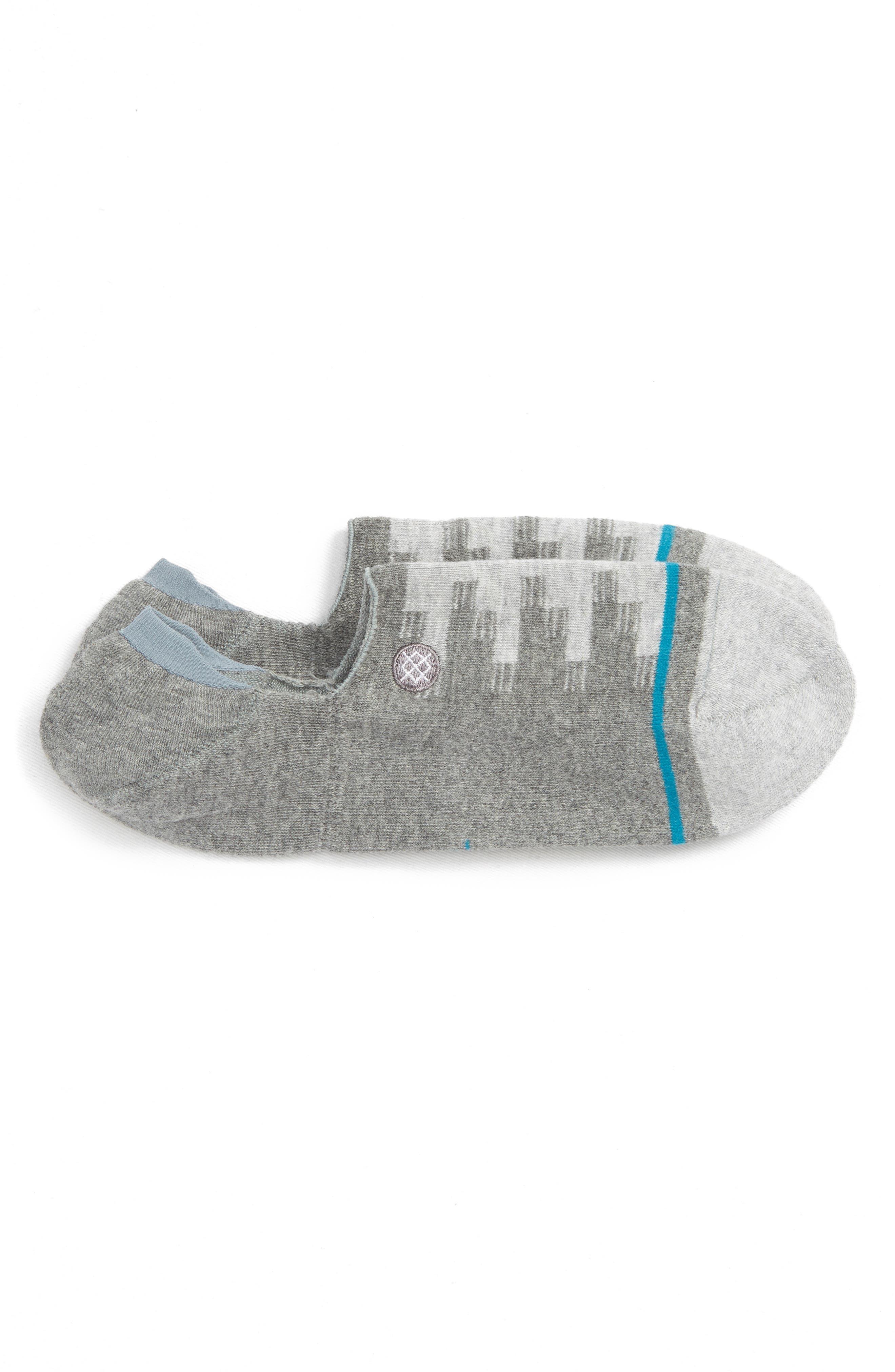 Laretto No-Show Socks,                         Main,                         color, GREY