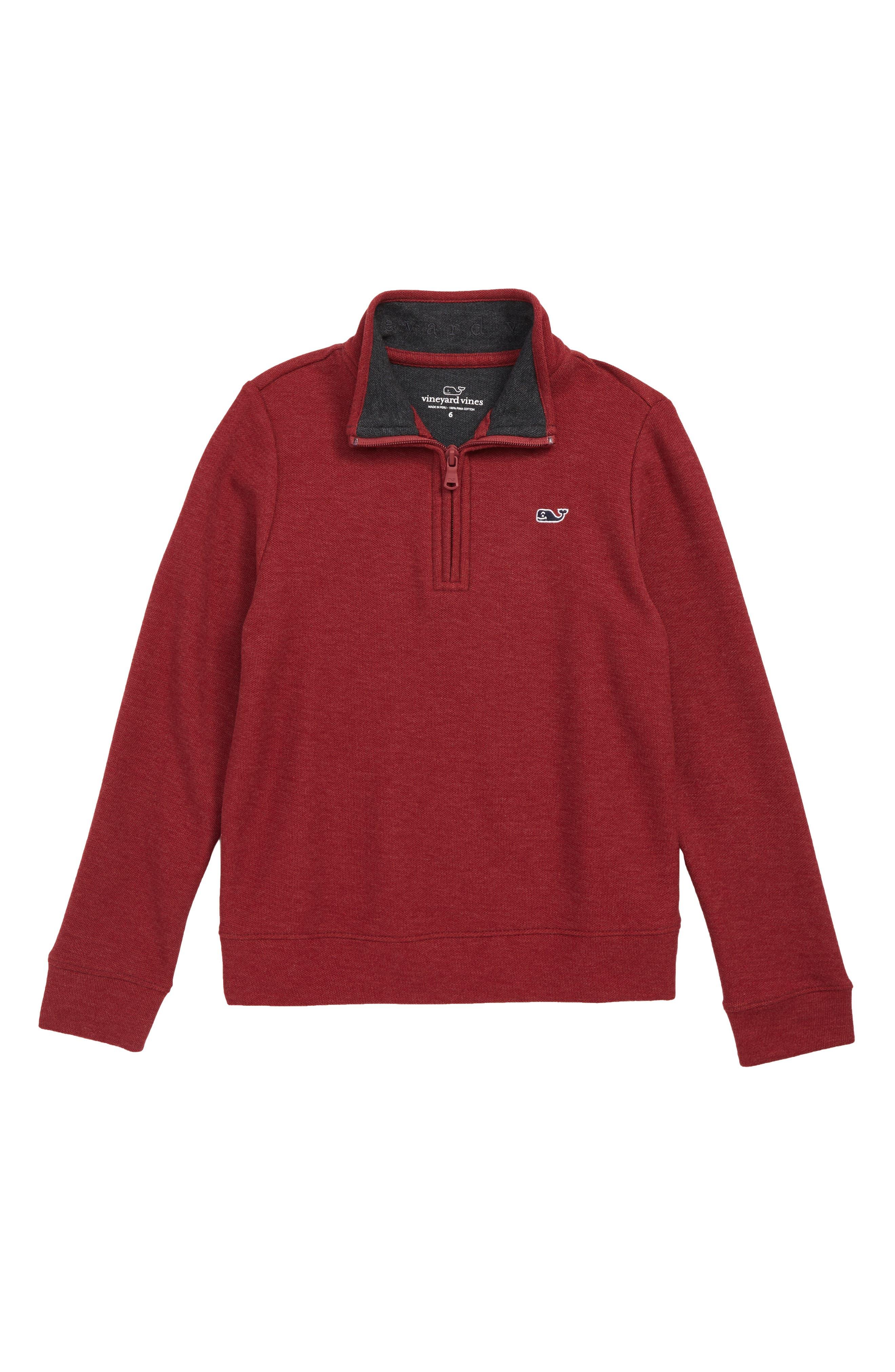 Toddler Boys Vineyard Vines Quarter Zip Sweater Size 4T  Red