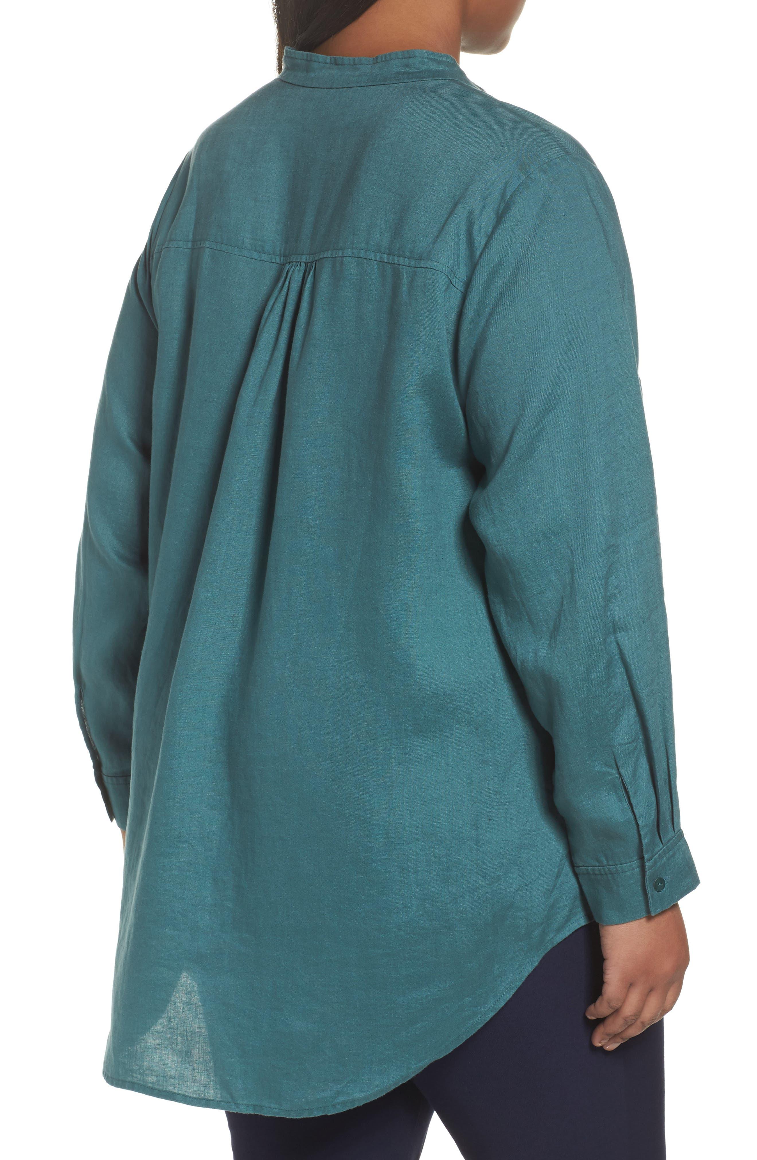 Organic Linen Tunic Shirt,                             Alternate thumbnail 5, color,