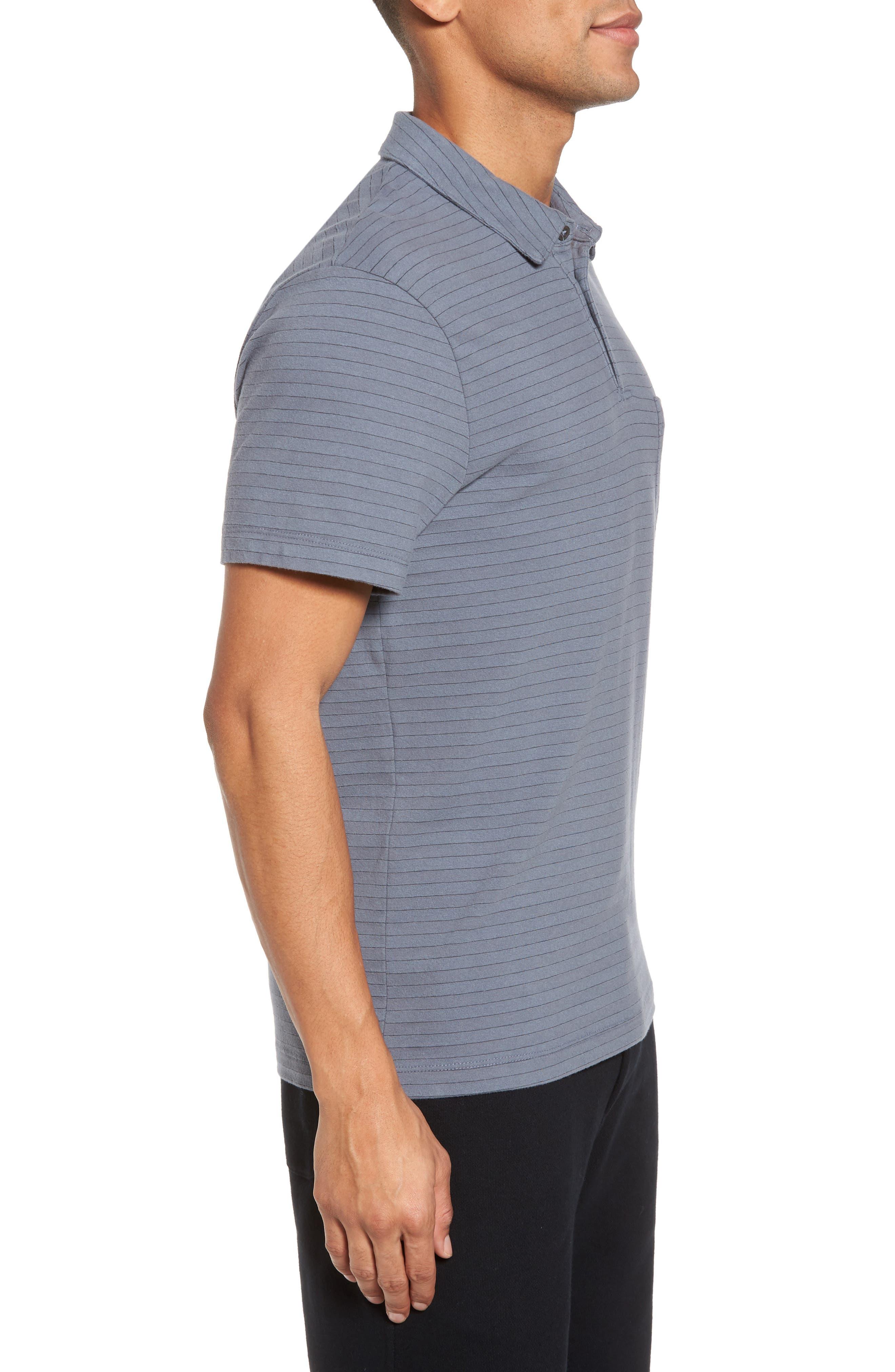 Shadow Stripe Jersey Pocket Polo,                             Alternate thumbnail 3, color,                             028