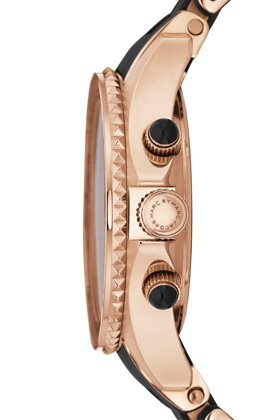 'Rock' Chronograph Silicone Bracelet Watch, 40mm,                             Alternate thumbnail 21, color,