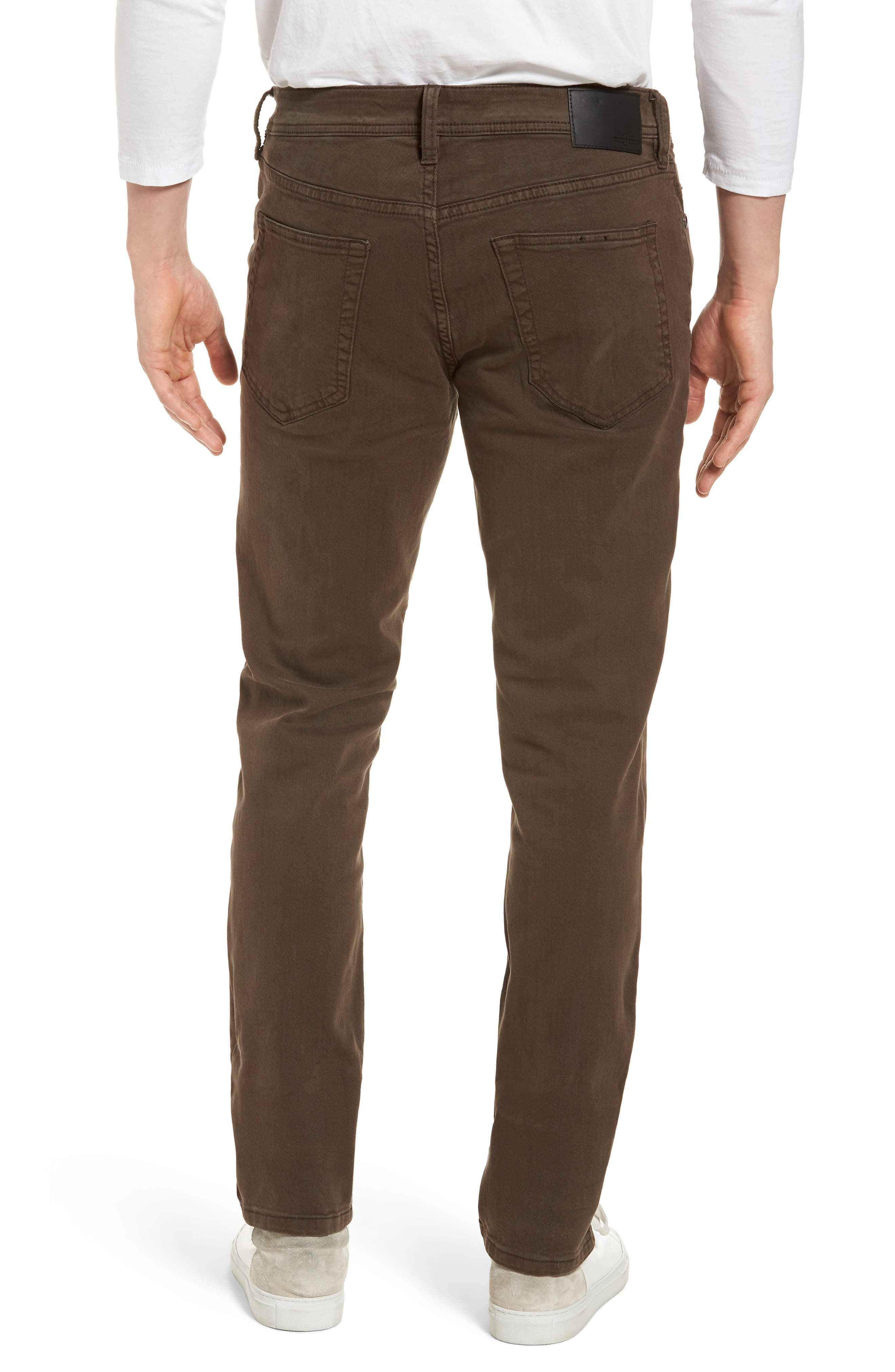 Jeans Co. Kingston Slim Straight Leg Jeans,                             Alternate thumbnail 2, color,                             TOBACCO LEAF