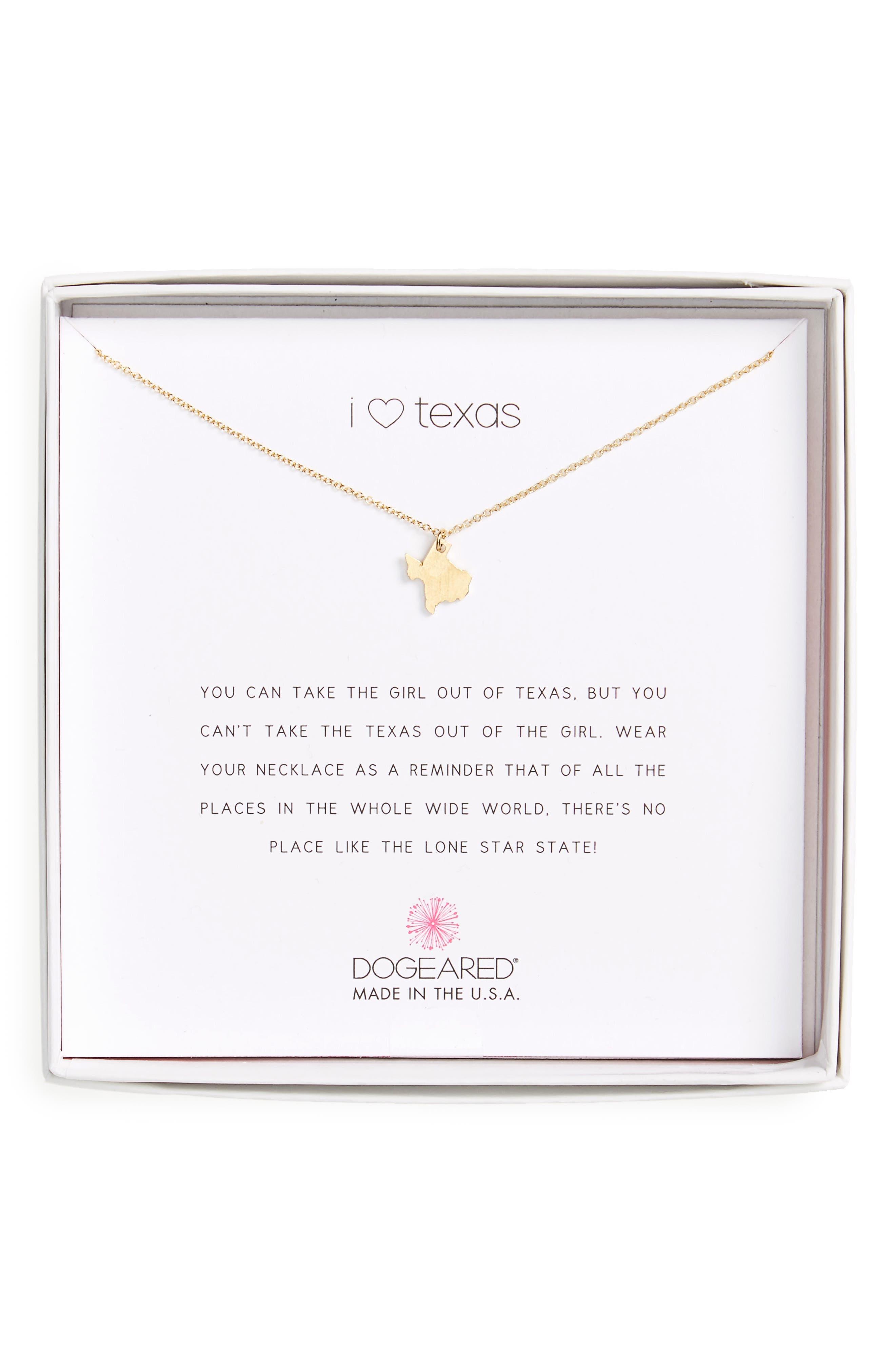 I Heart Texas Pendant Necklace,                             Main thumbnail 2, color,