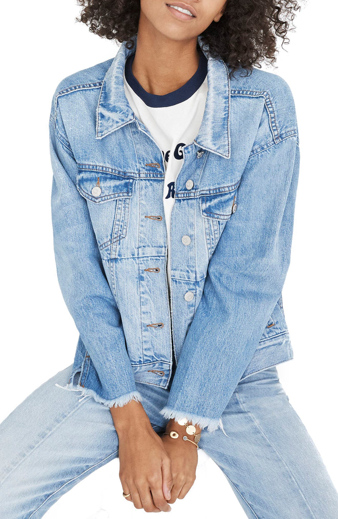 Reconstructed Jean Jacket,                         Main,                         color, 400