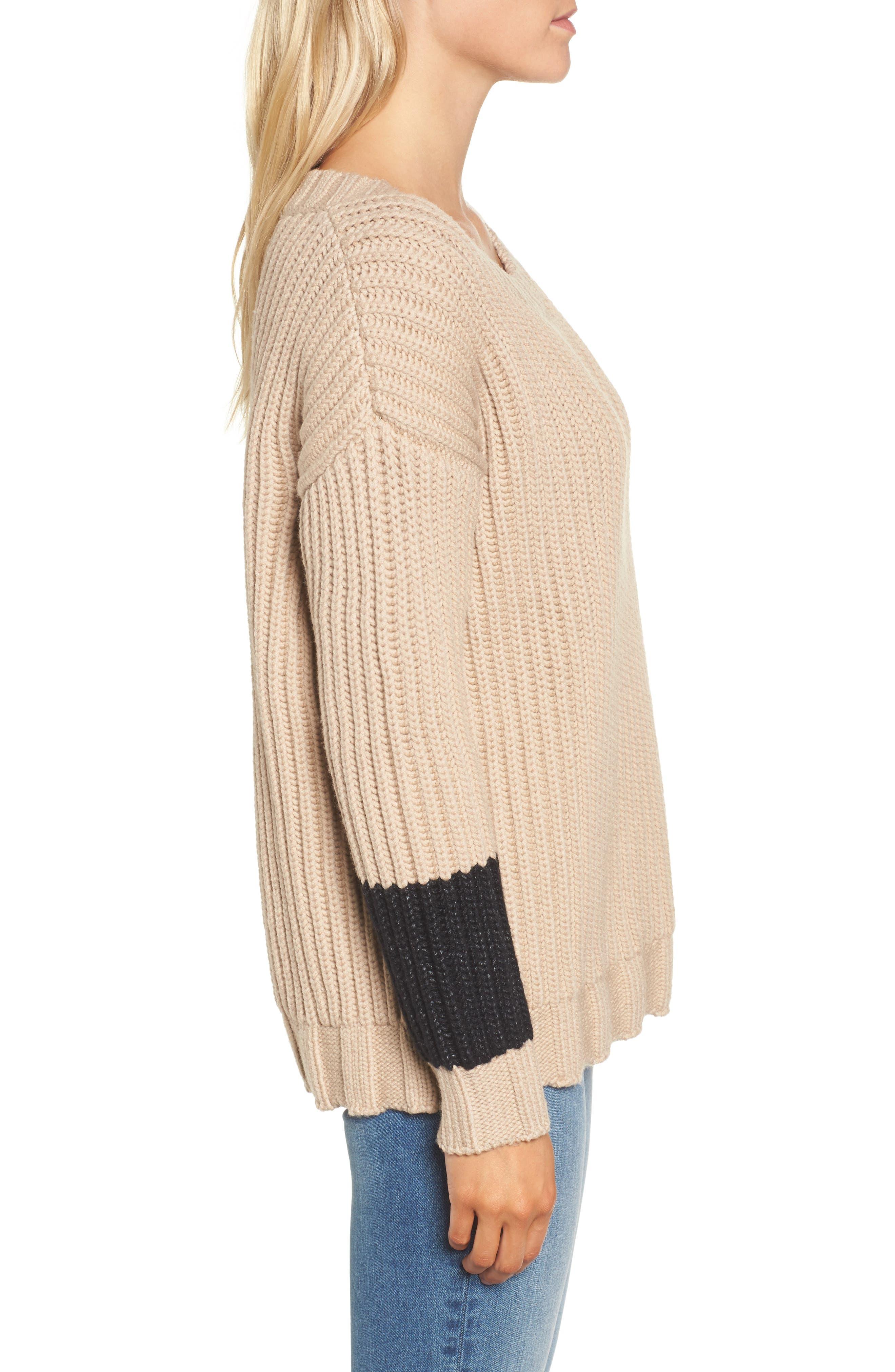 Chunky Armband Sweater,                             Alternate thumbnail 6, color,