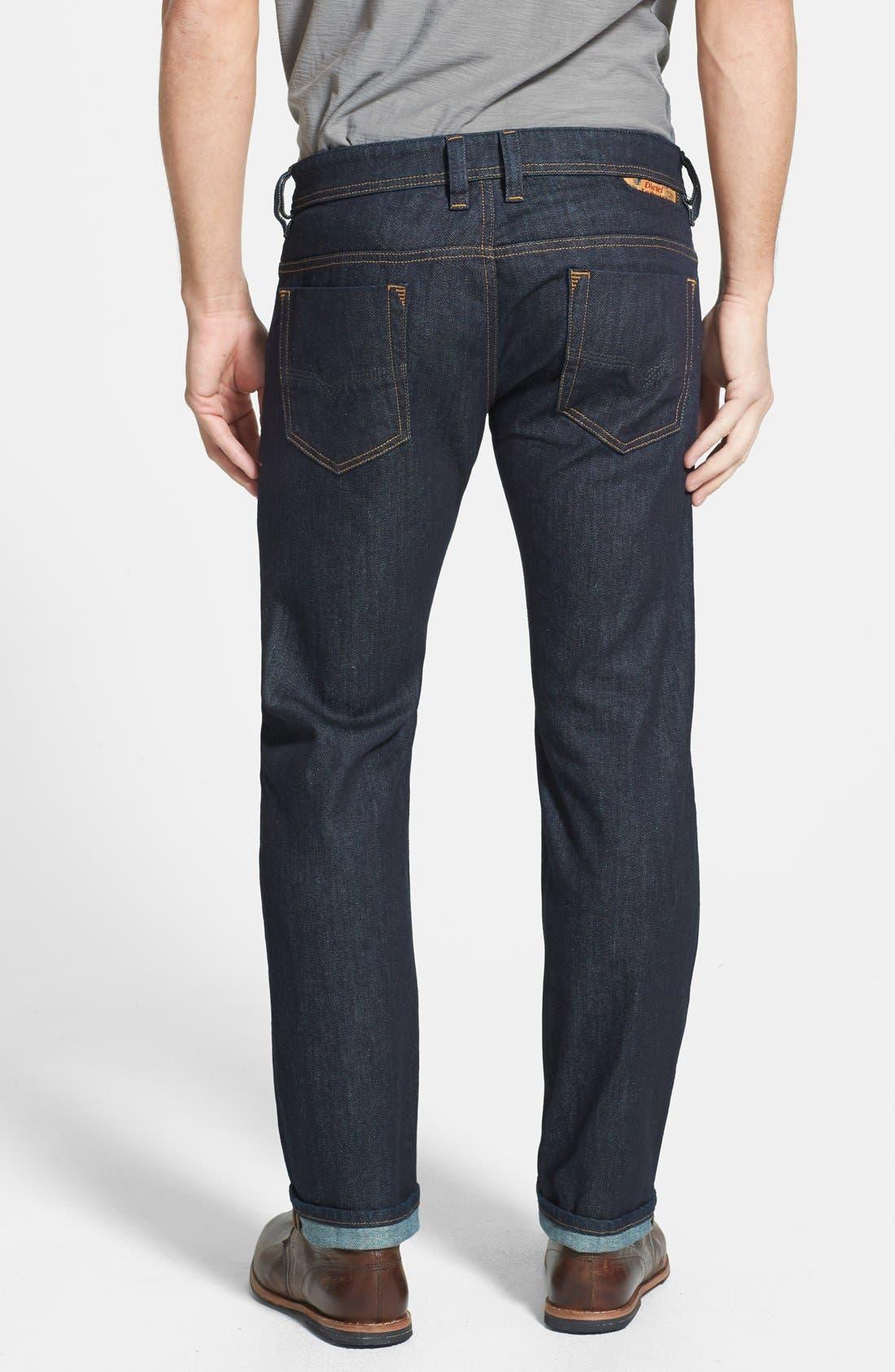 'Safado' Slim Fit Selvedge Jeans,                             Alternate thumbnail 5, color,                             400