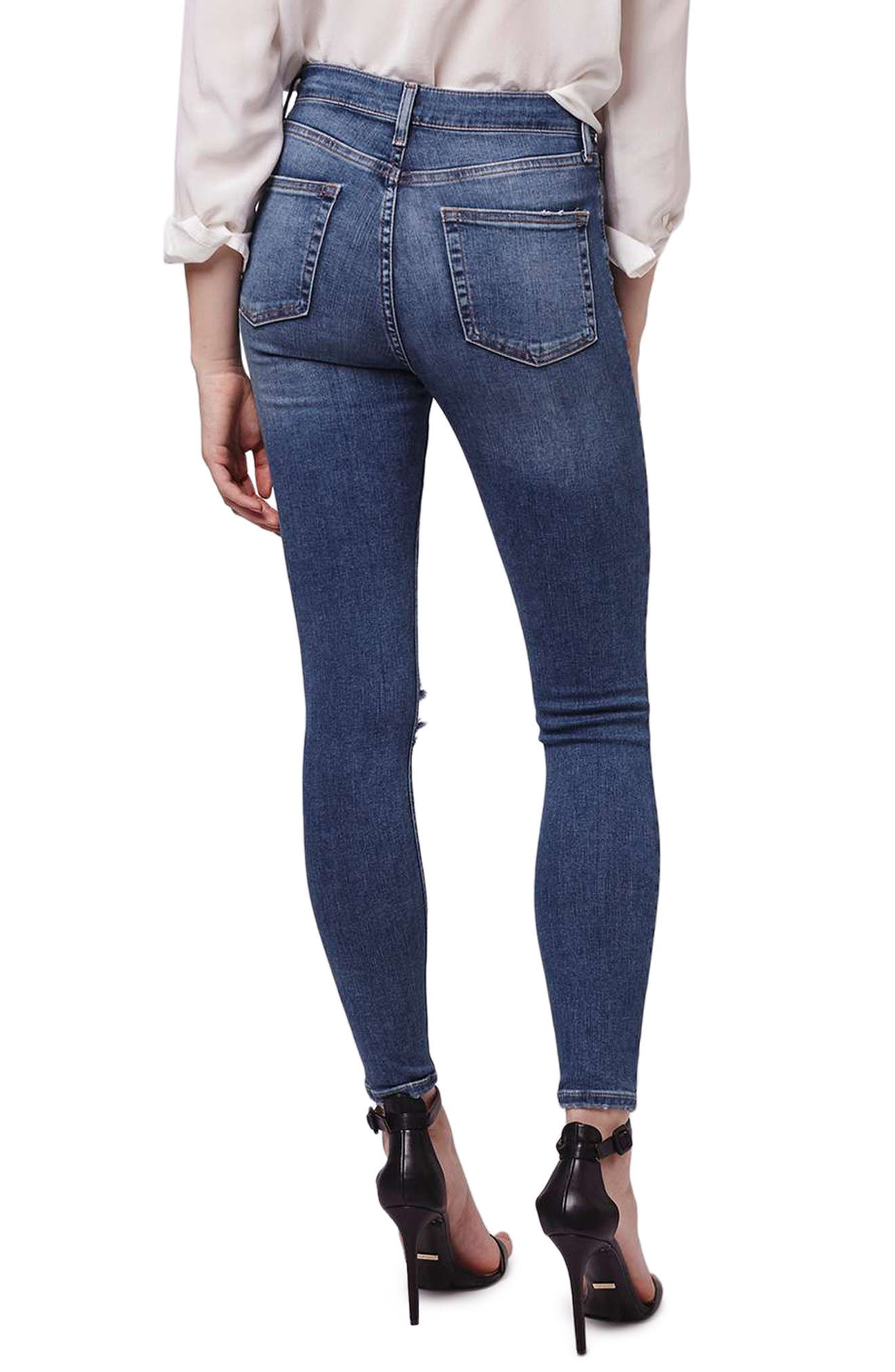 Jamie Rip High Waist Skinny Jeans,                             Alternate thumbnail 2, color,                             420