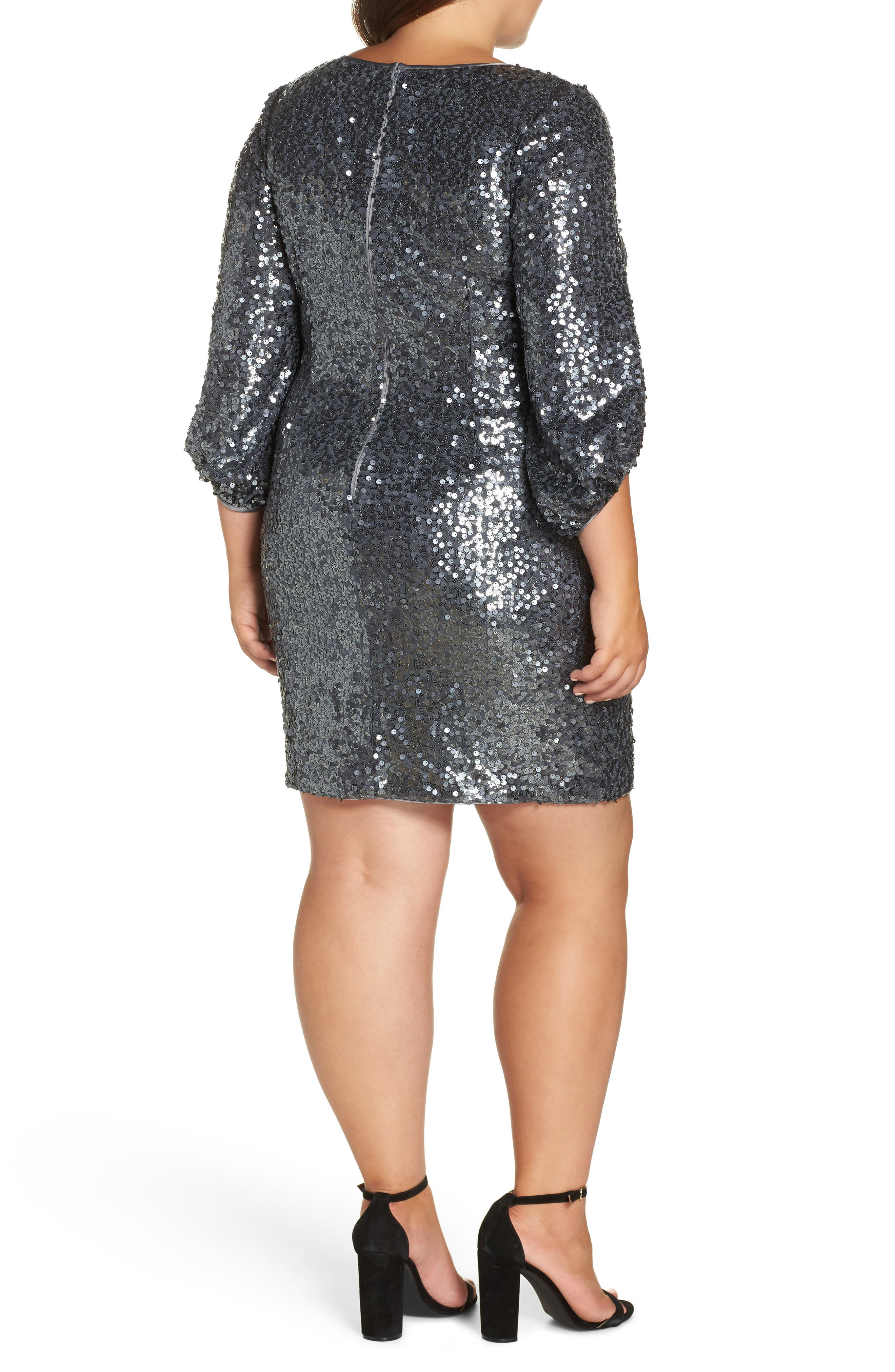 Sequin Sheath Dress,                             Alternate thumbnail 2, color,                             GREY