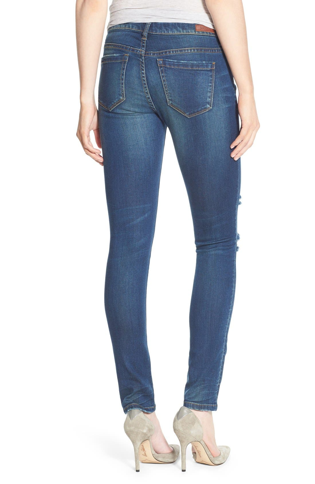 'Instagirl' Distressed Skinny Jeans,                             Alternate thumbnail 2, color,