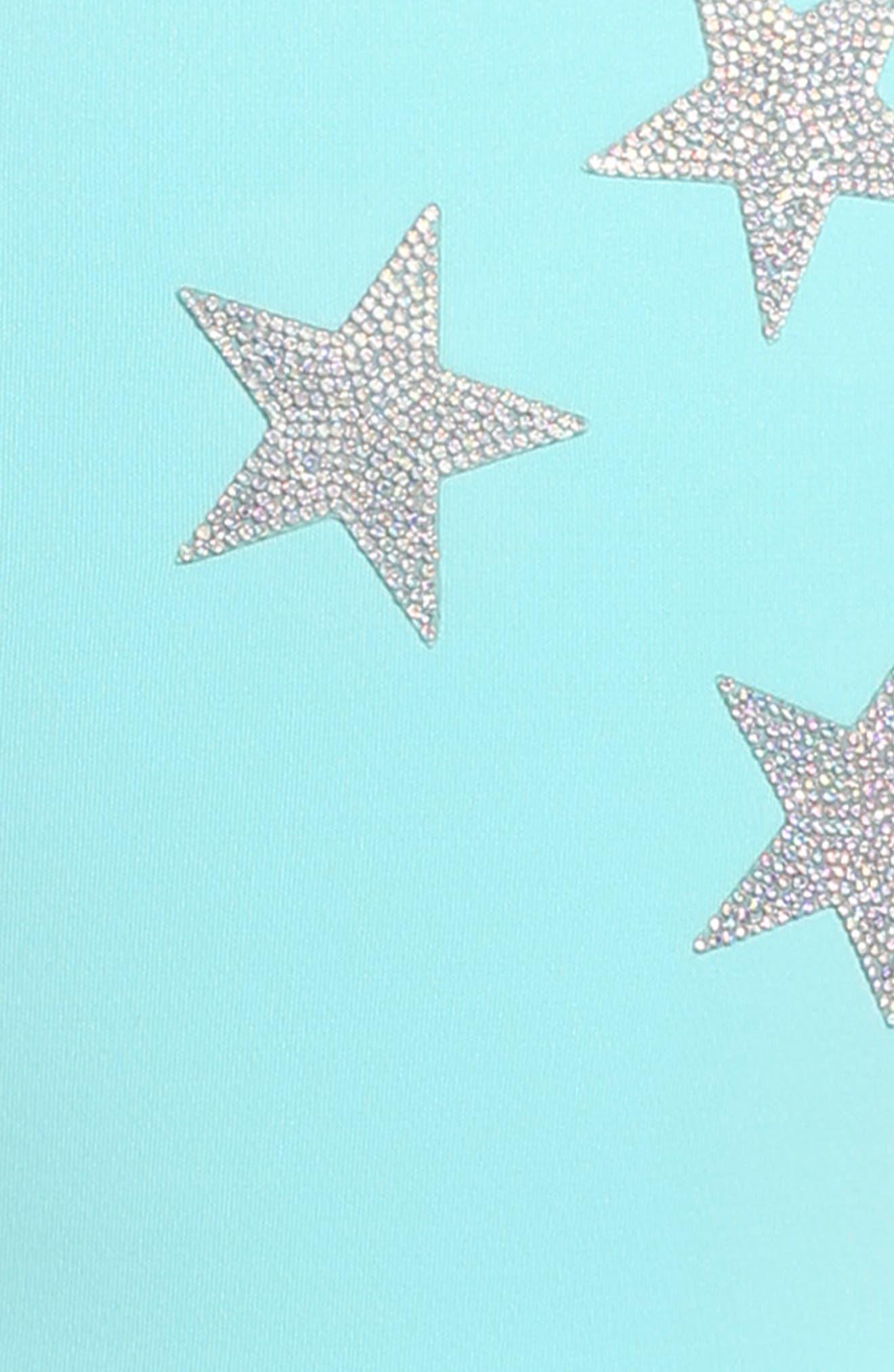 Star Appliqué Skater Dress,                             Alternate thumbnail 4, color,